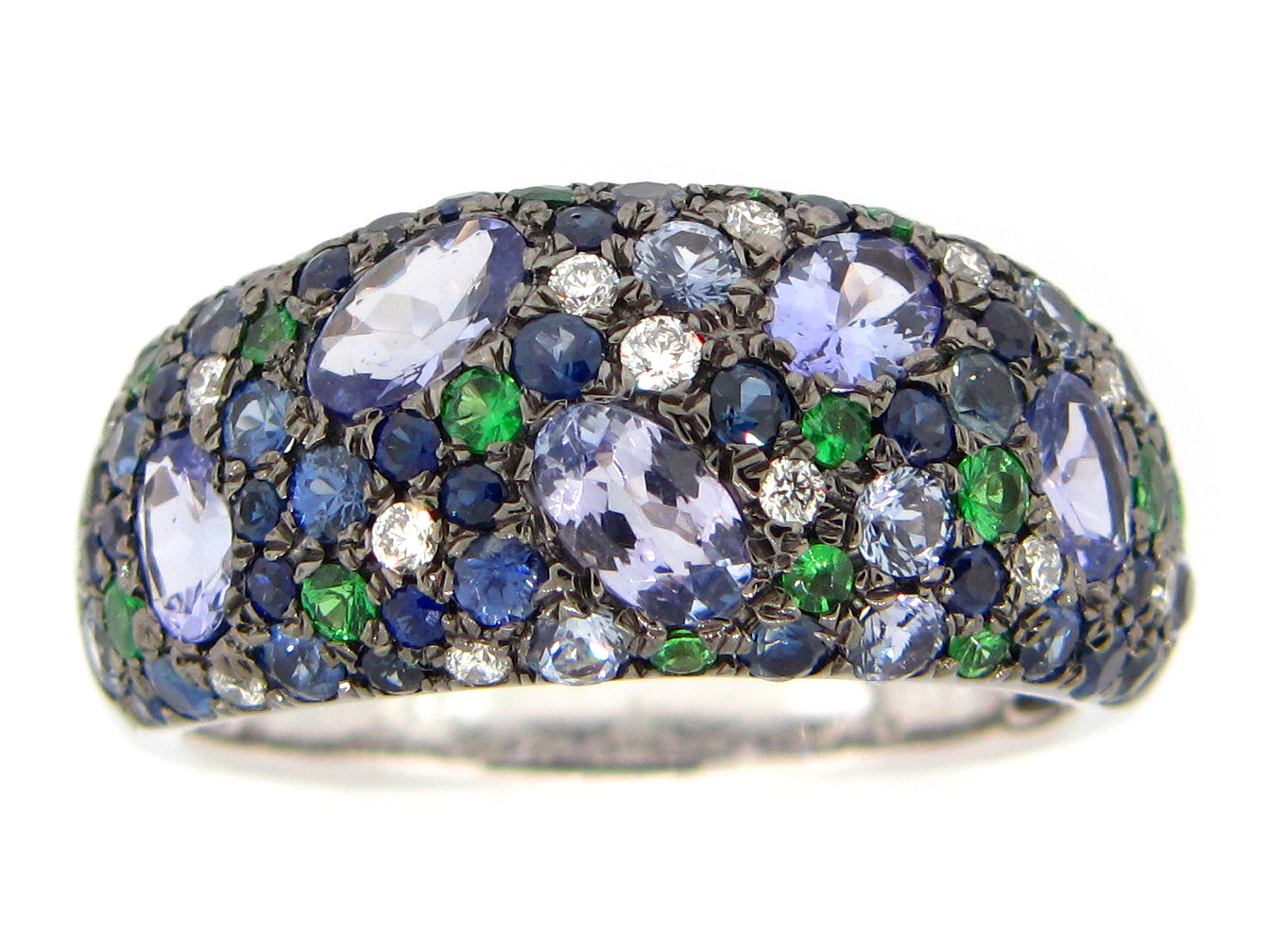 Mixed Gem & Diamond Ring