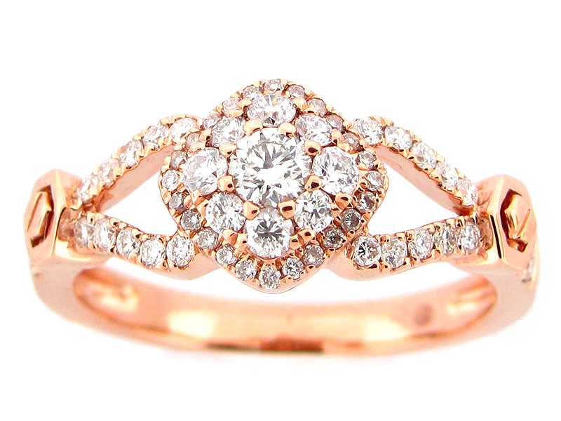 Diamond Cluster Split Shank Ring