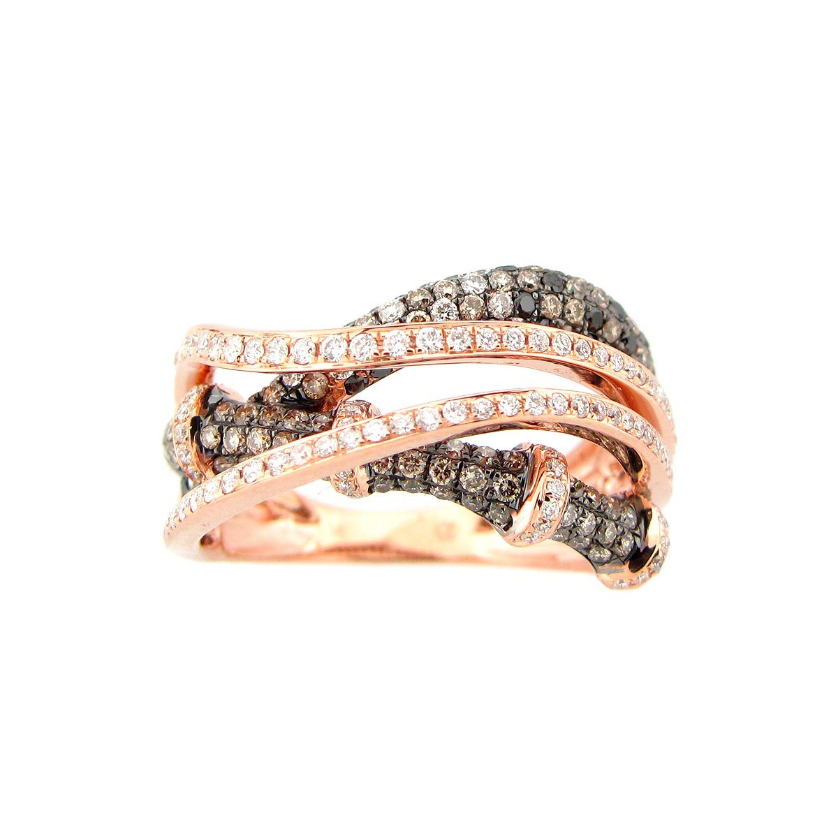 Black, Brown & White Diamond Ring