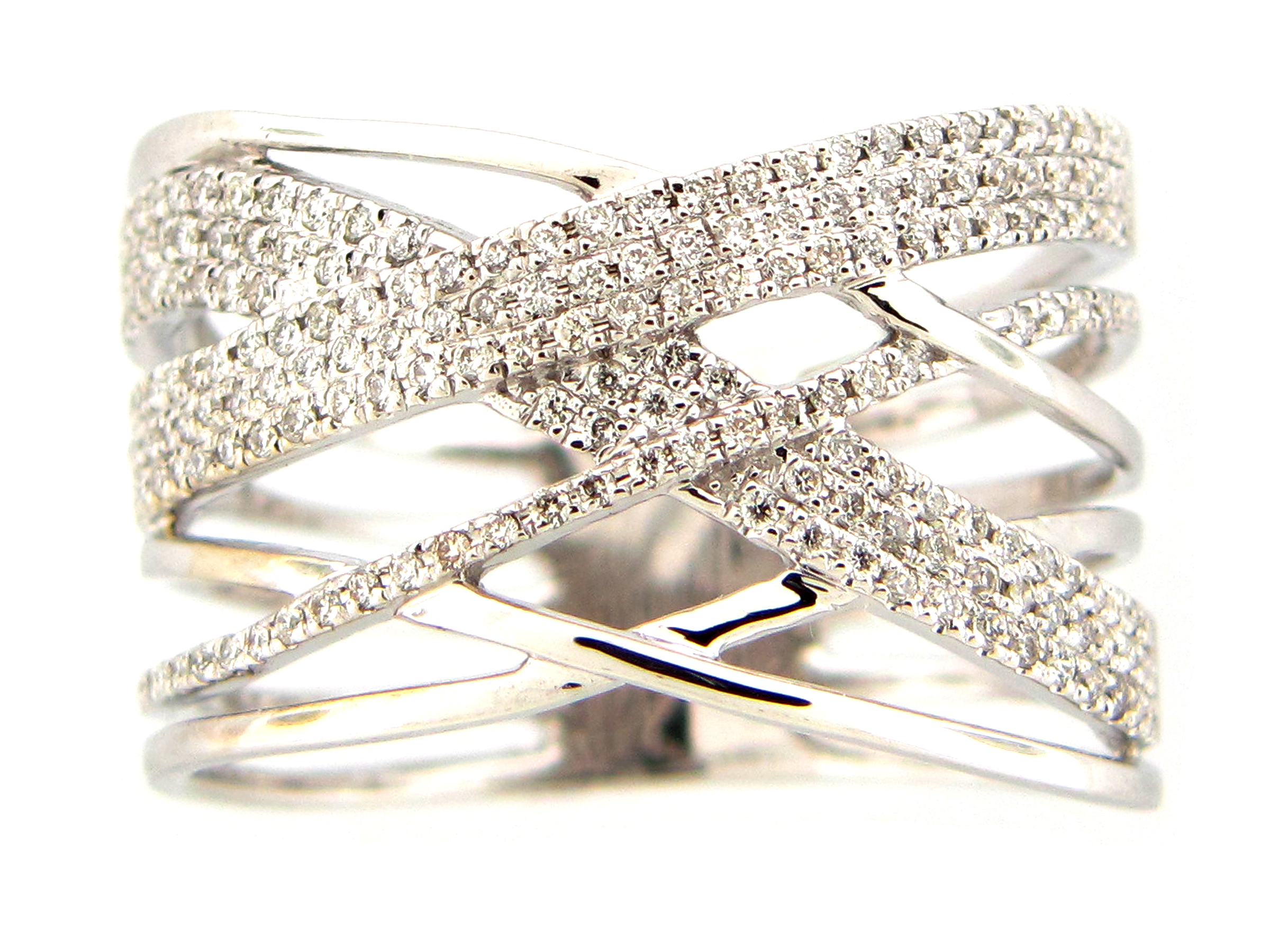Diamond Multi-Strand Ring