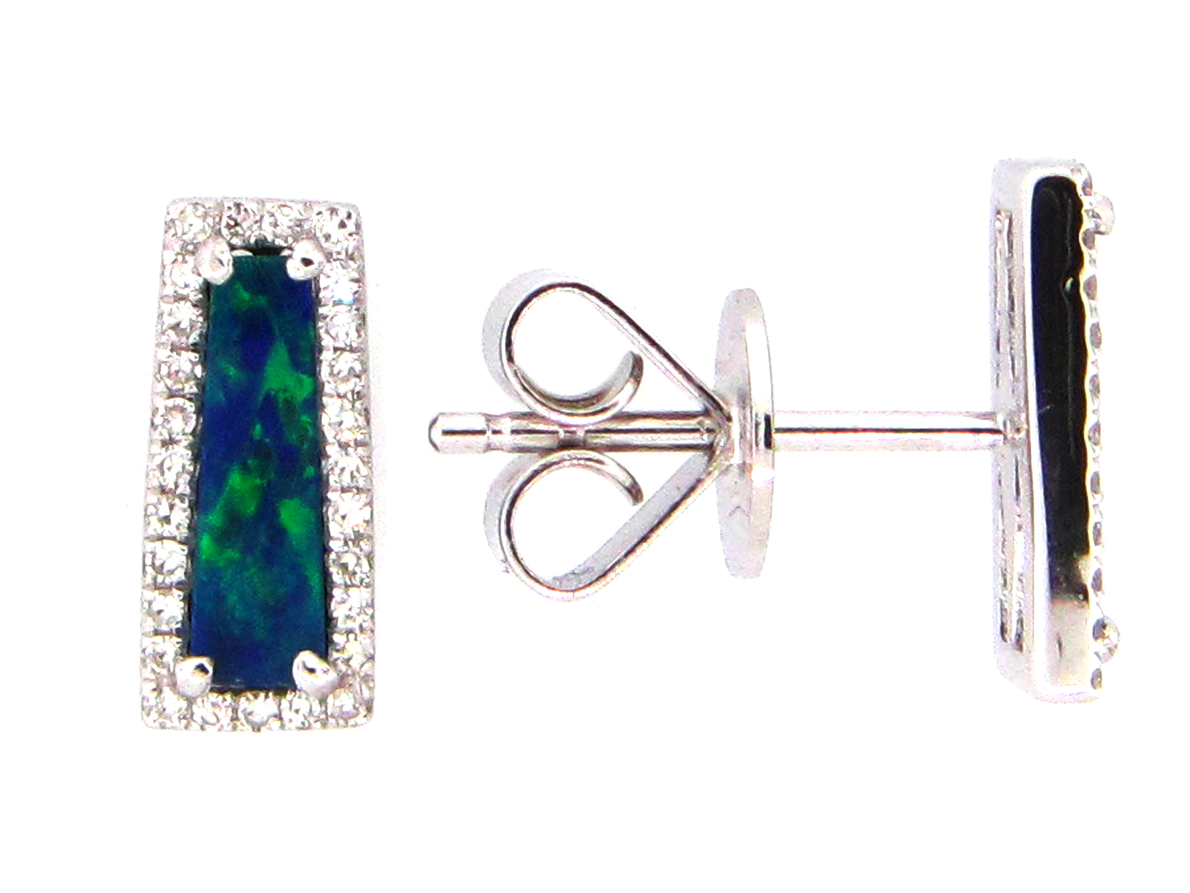 Black Opal Earring