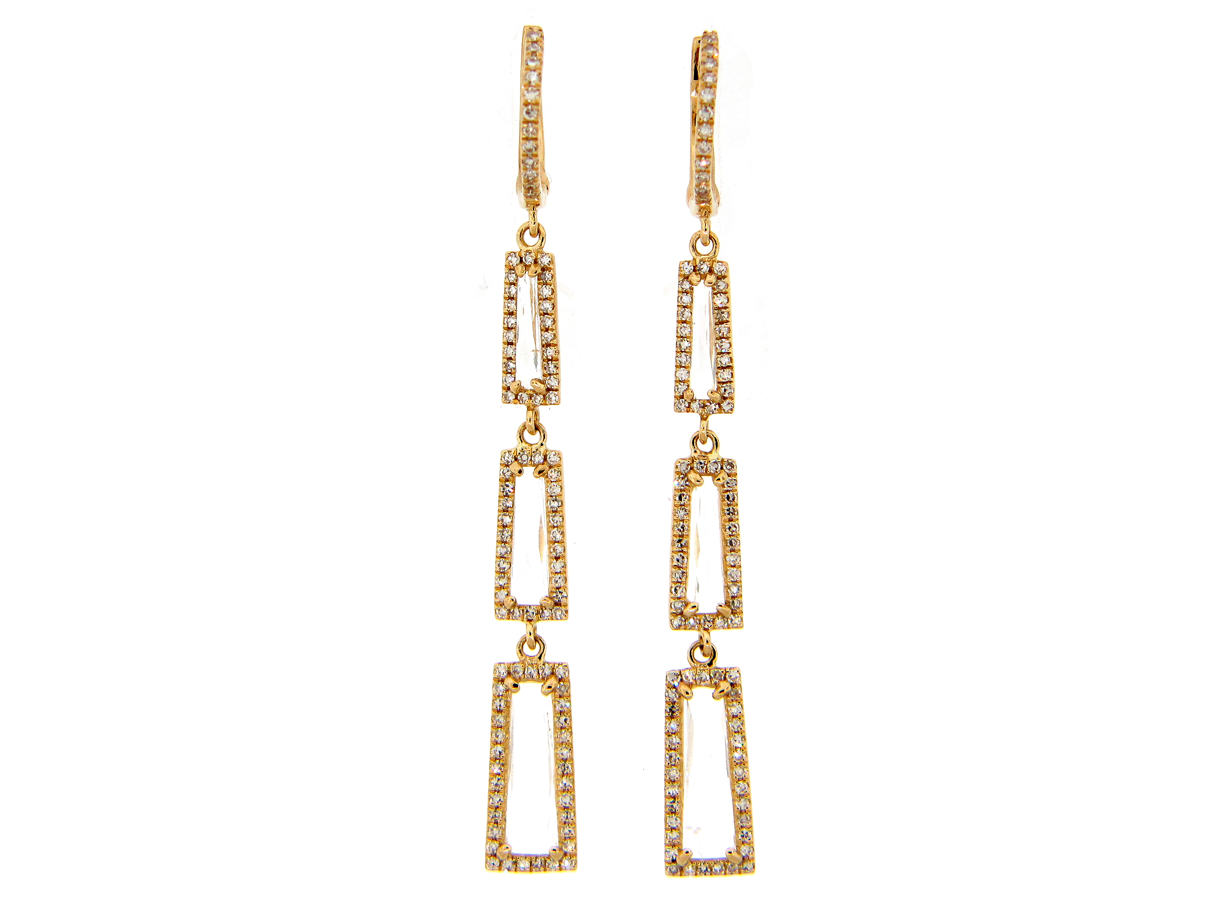 White Topaz and Diamond Earring