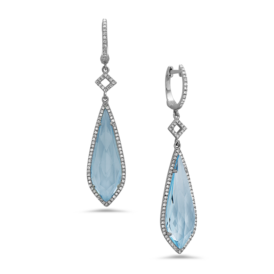 Blue Sky Topaz & Diamond Earring