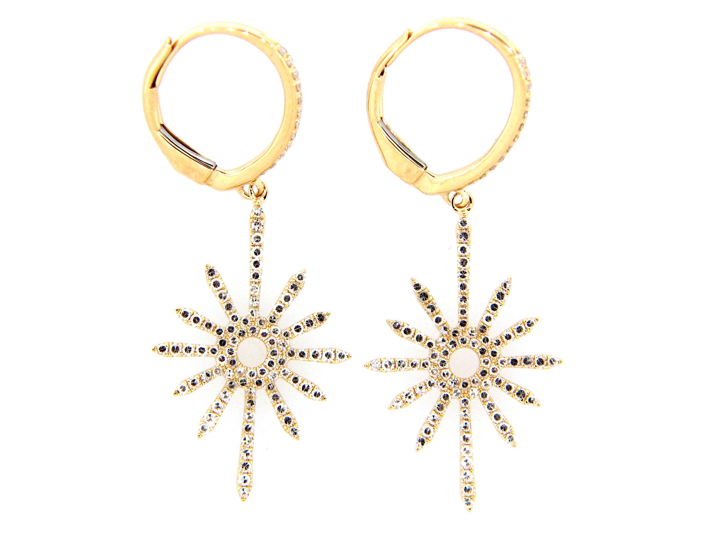 Diamond Starburst Dangle Earring