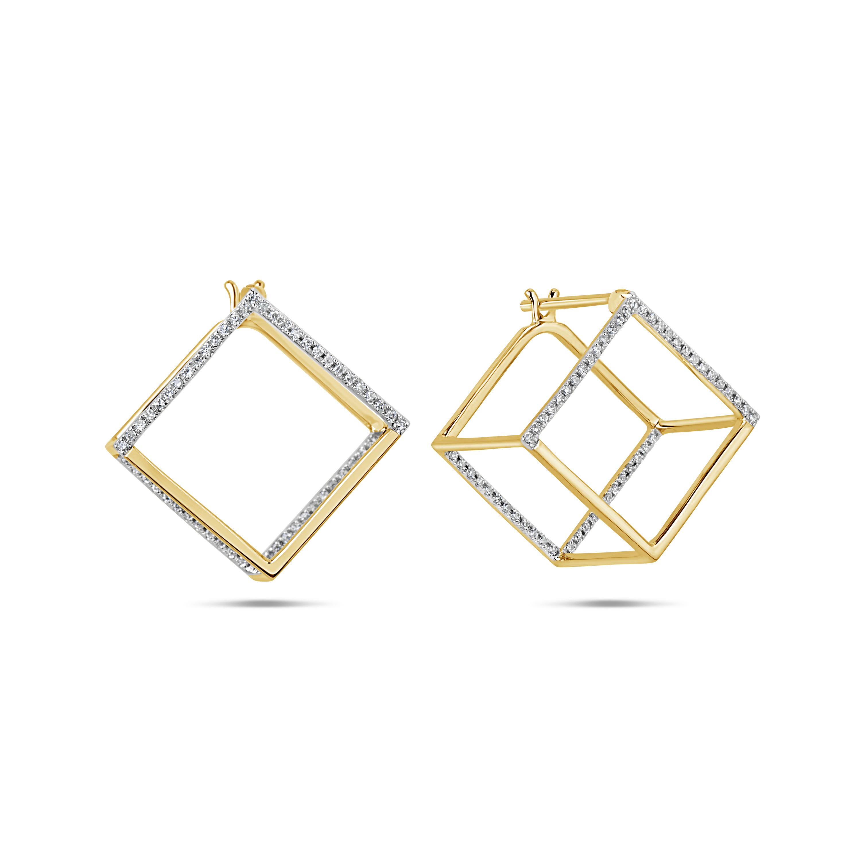 Diamond Box Earring