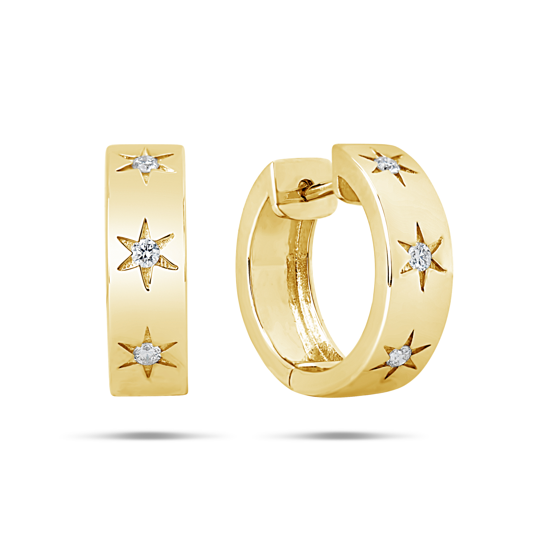 Diamond Star Carve Earring