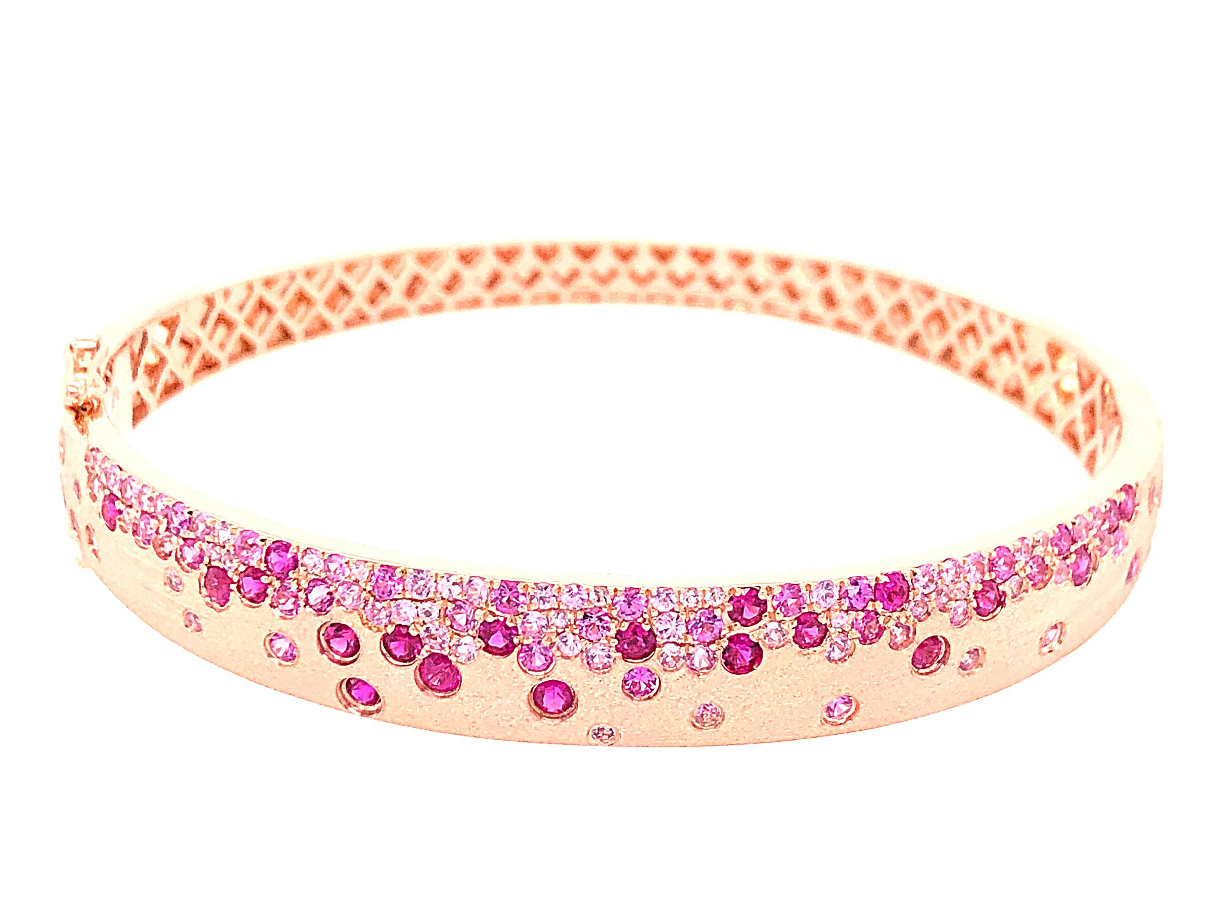Pink Sapphire & Ruby Bangle