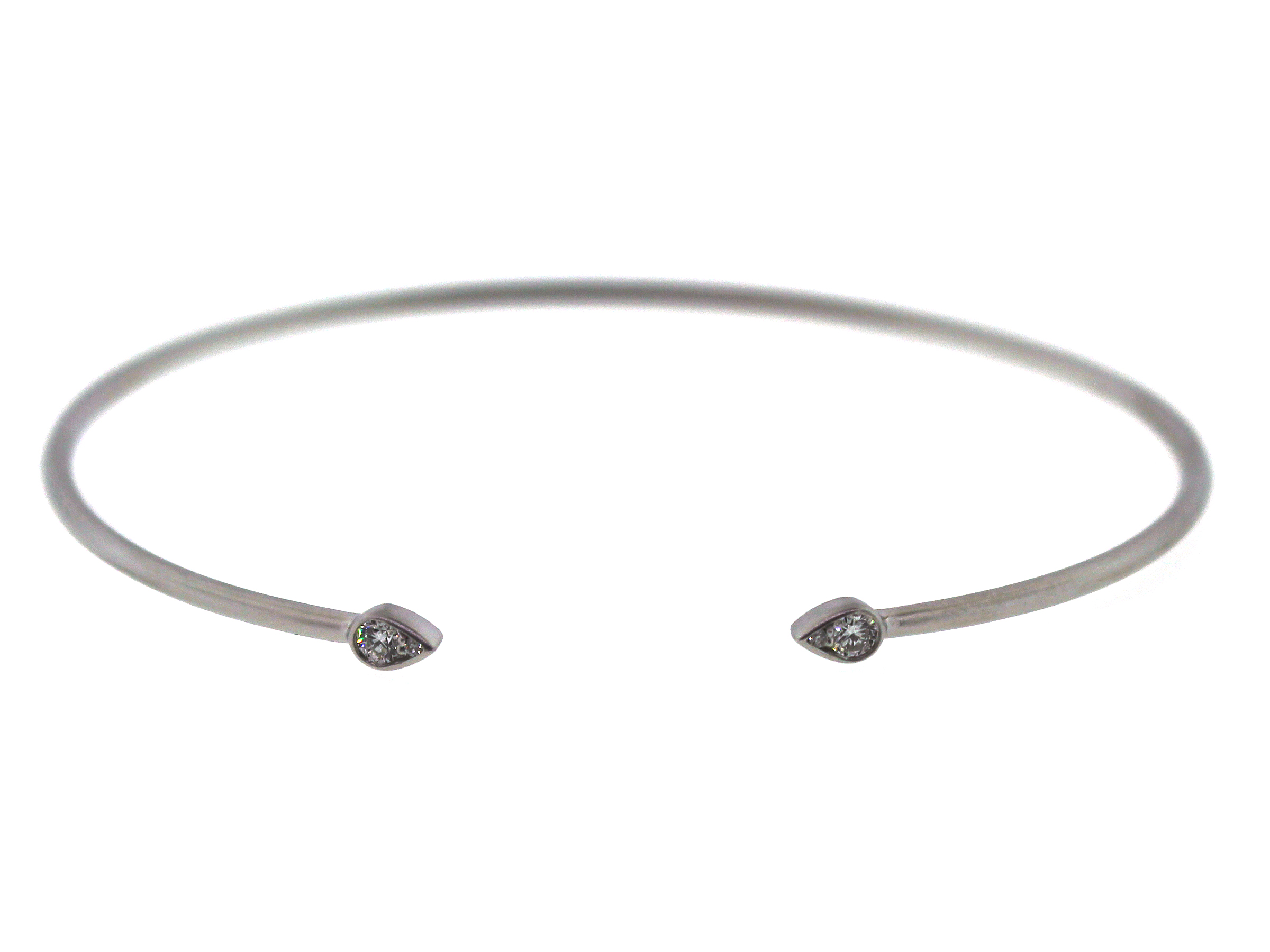 Diamond Pear Flex Bangle