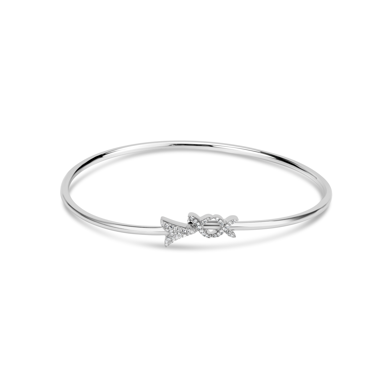 Diamond Arrow Flexible Bangle
