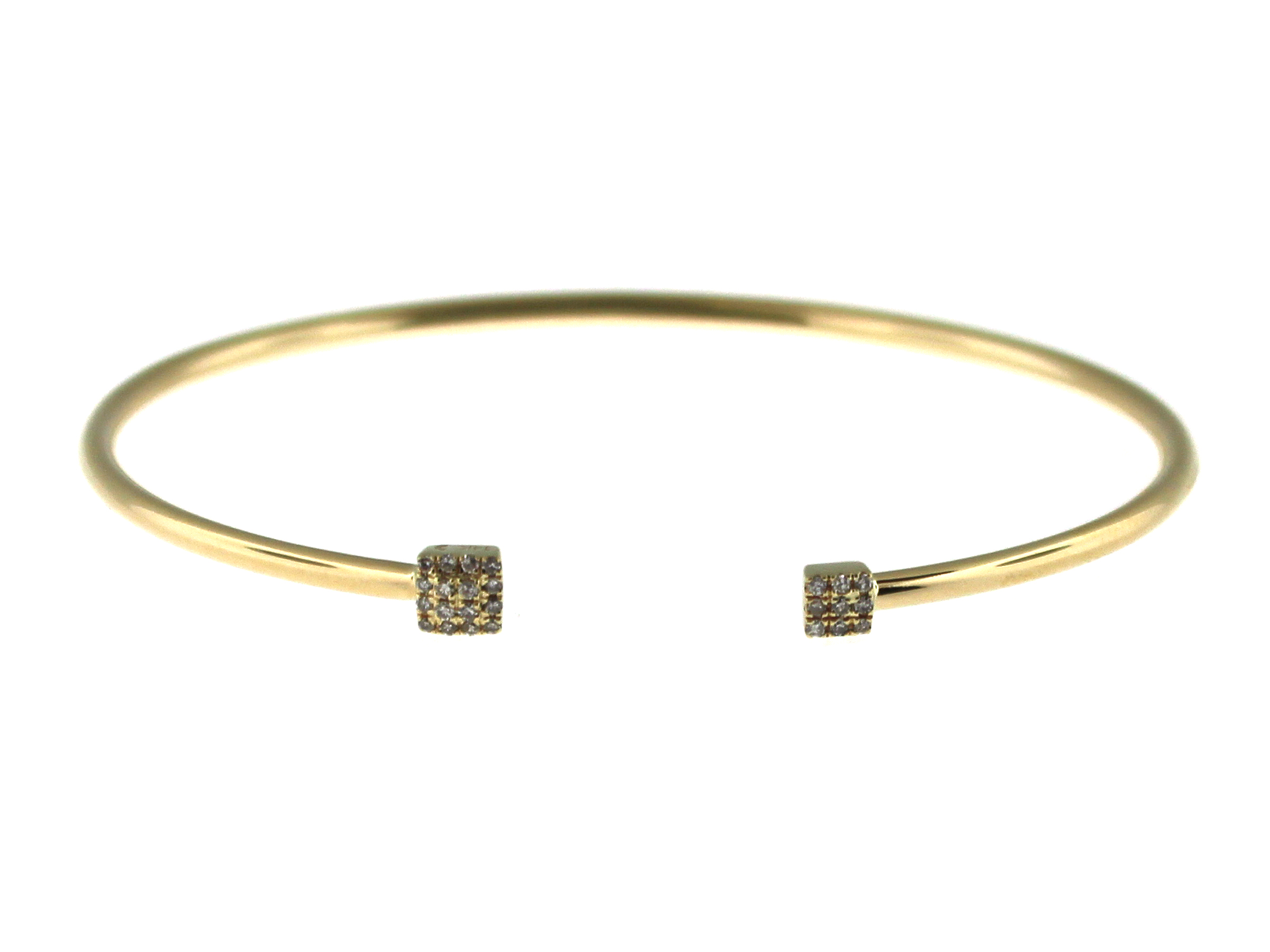 Diamond Cushion Flex Bangle