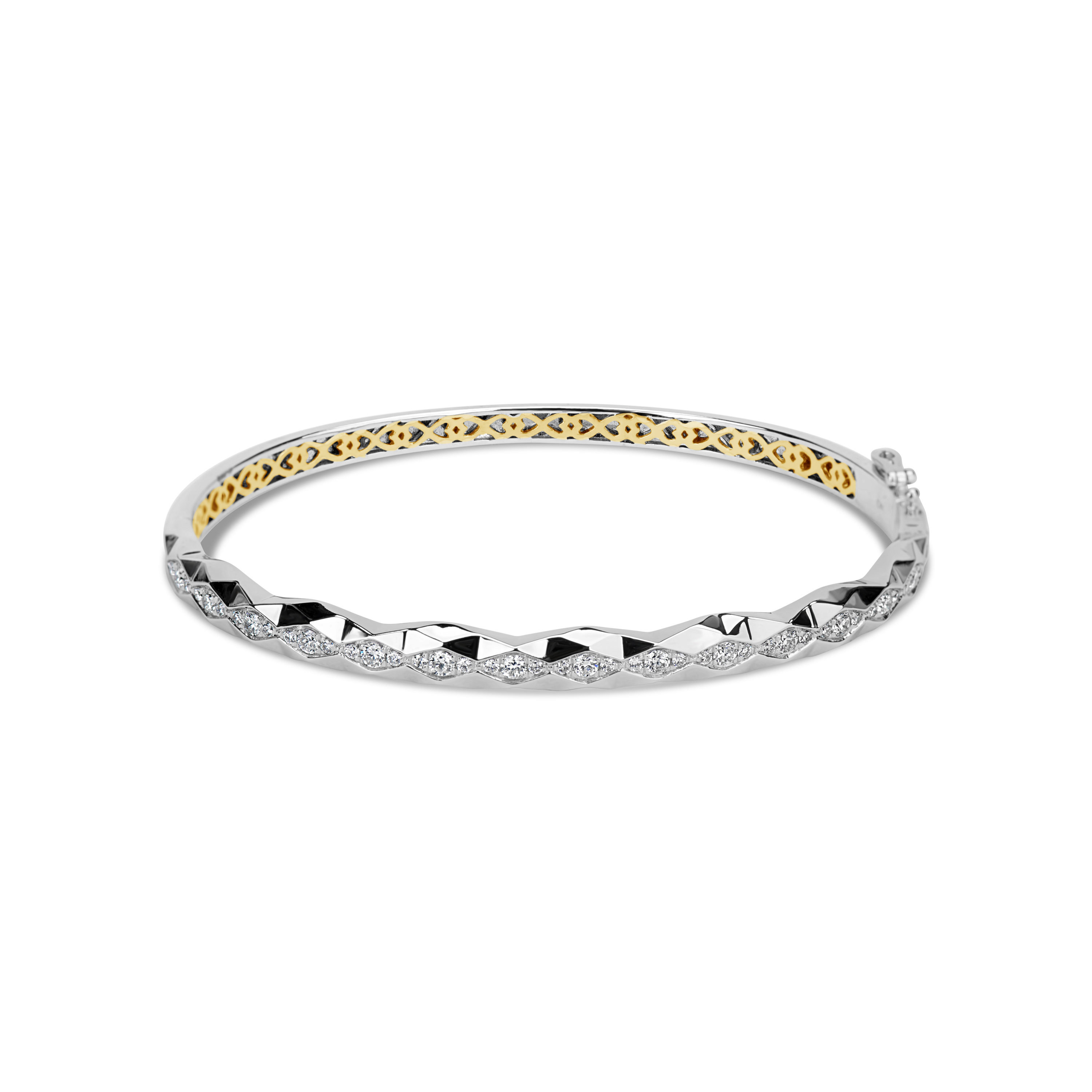 Diamond Geometric Cut Bangle