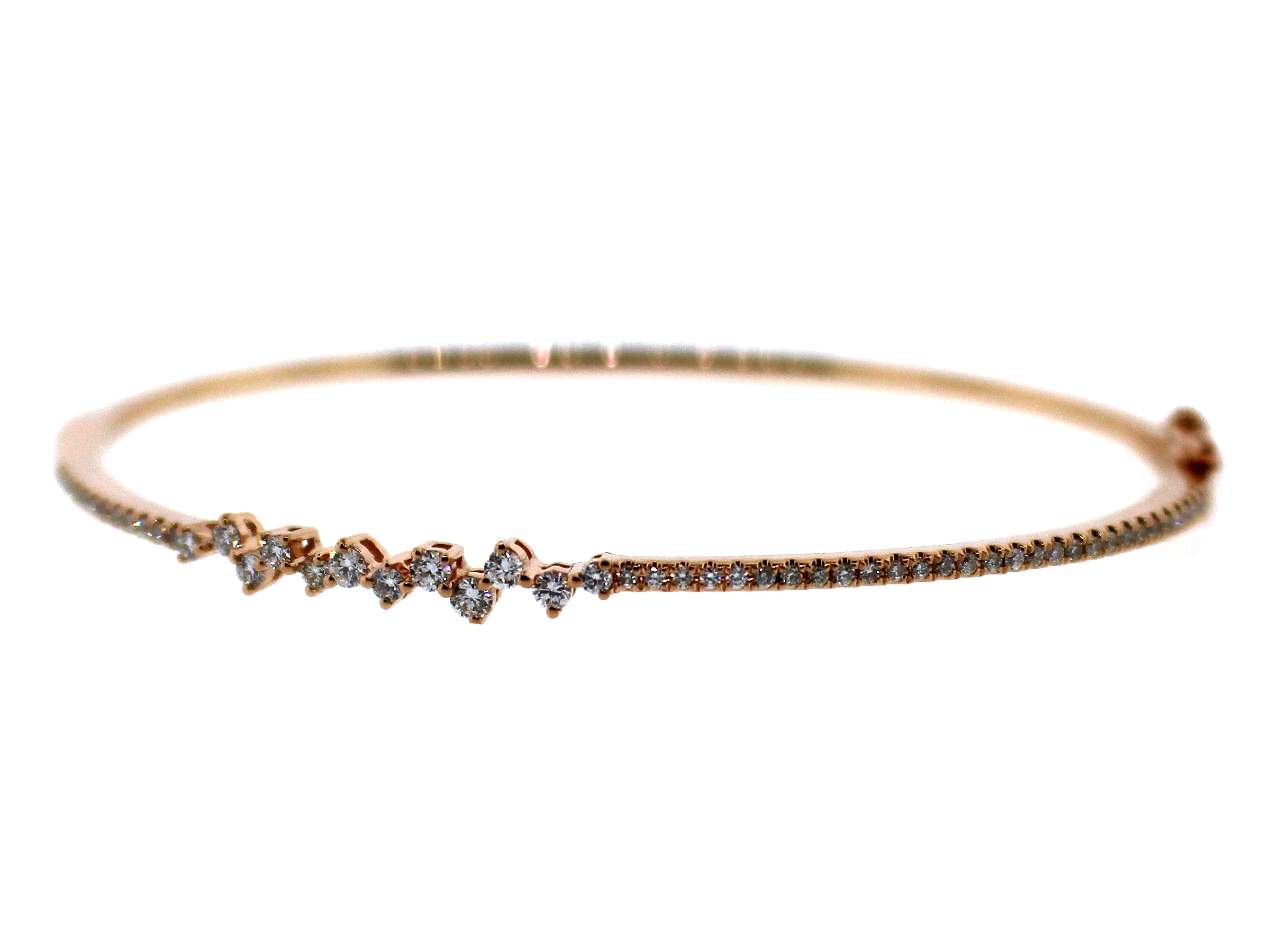 Diamond Asymmetrical Bangle