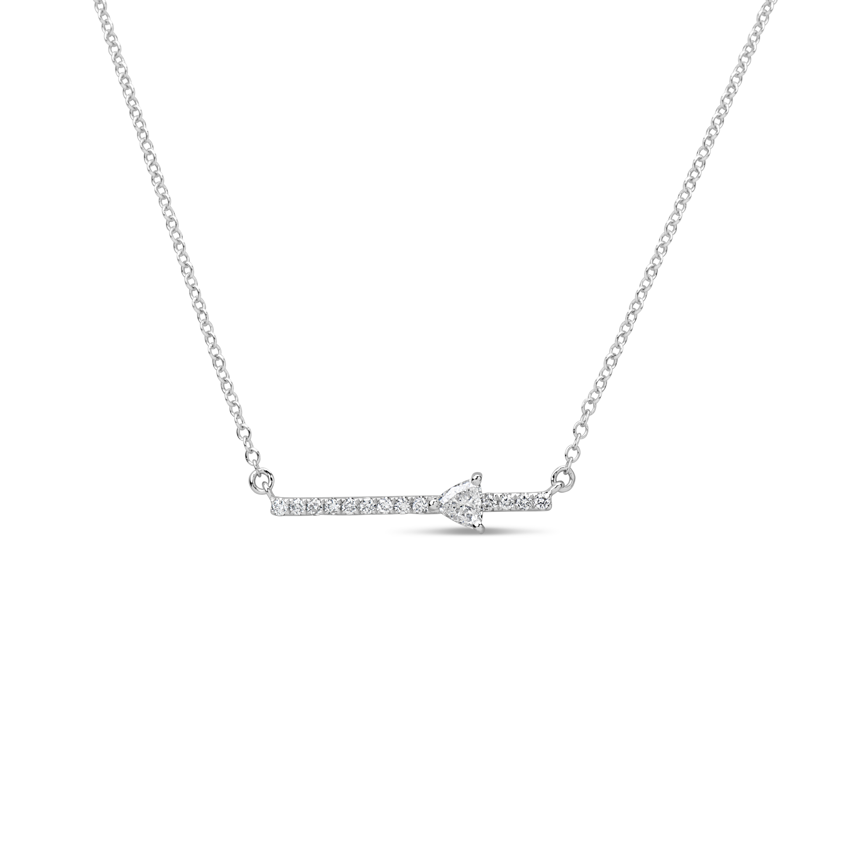 Diamond Trillion Bar Pendant Necklace