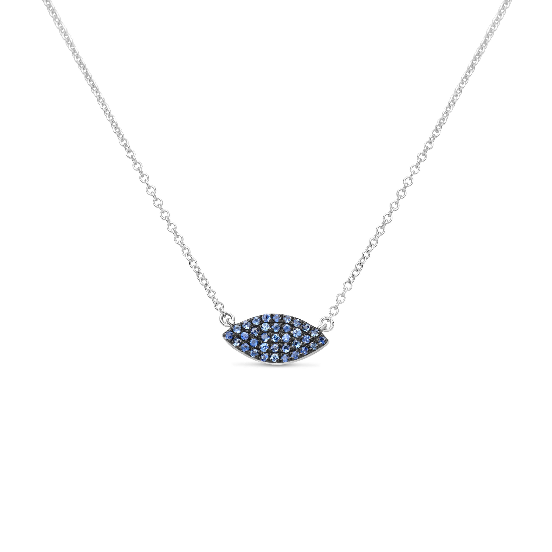 Sapphire Marquise Pendant Necklace