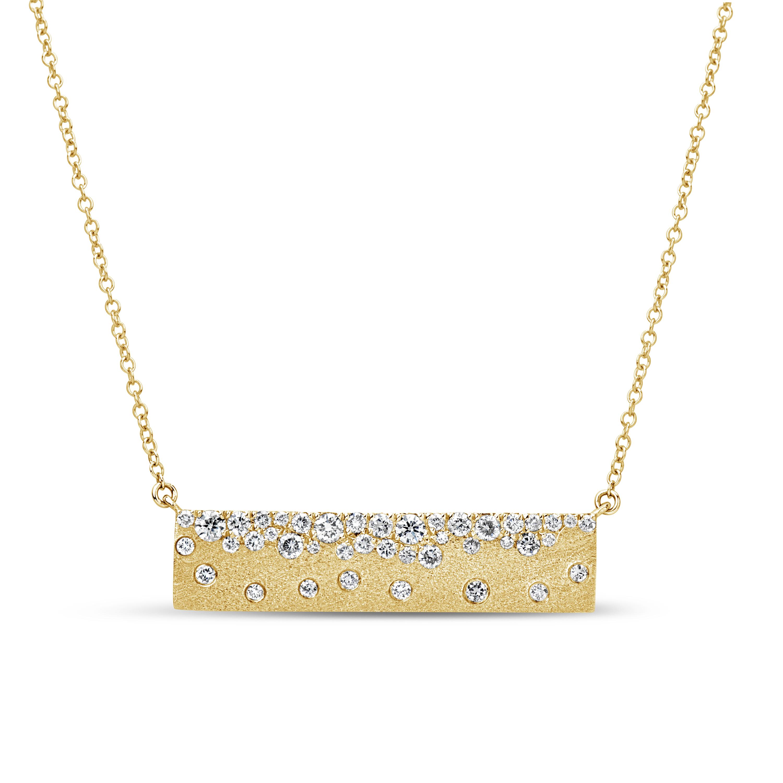 Diamond Flush Bar Pendant Necklace