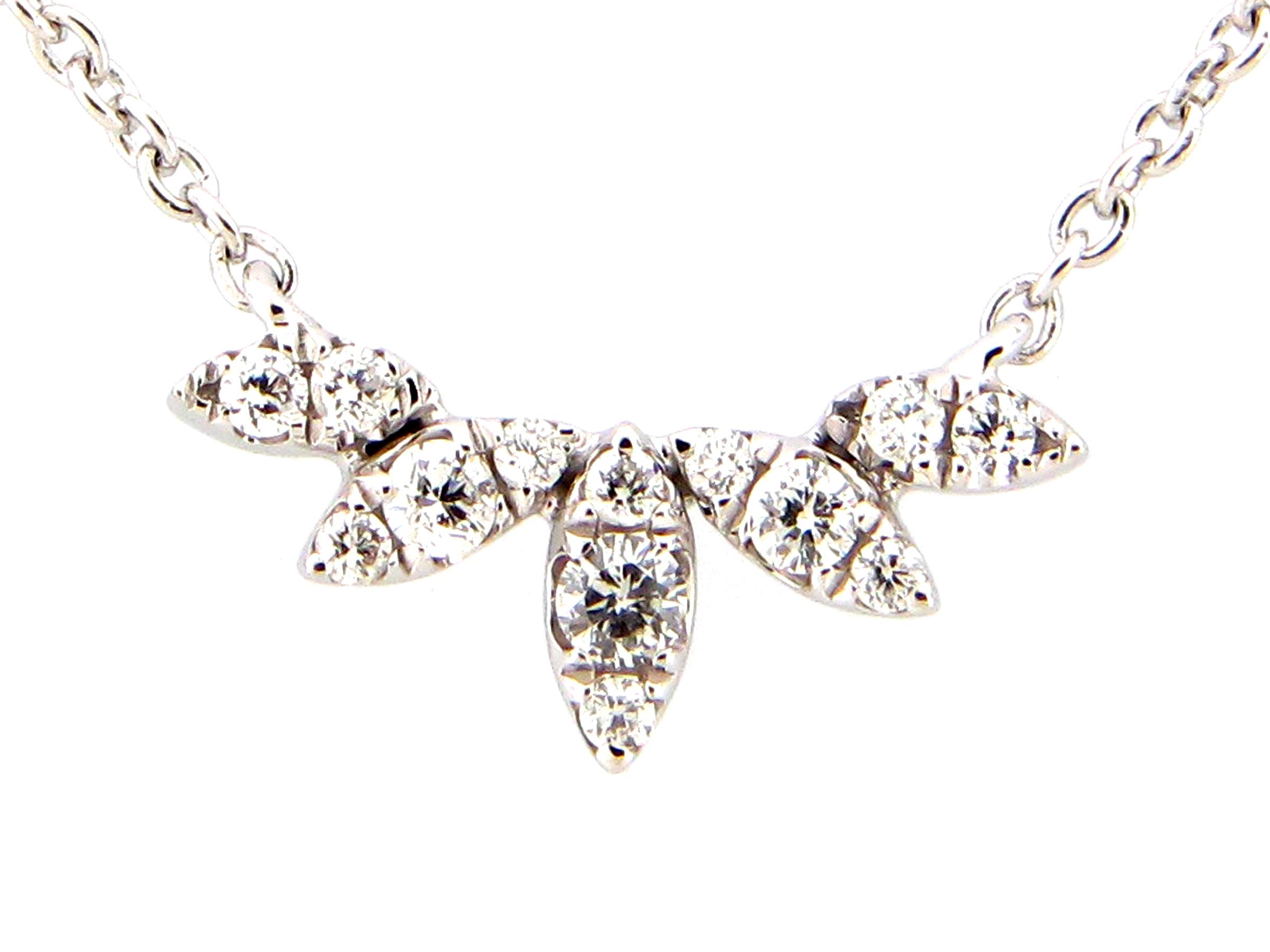 Diamond Array Pendant Necklace