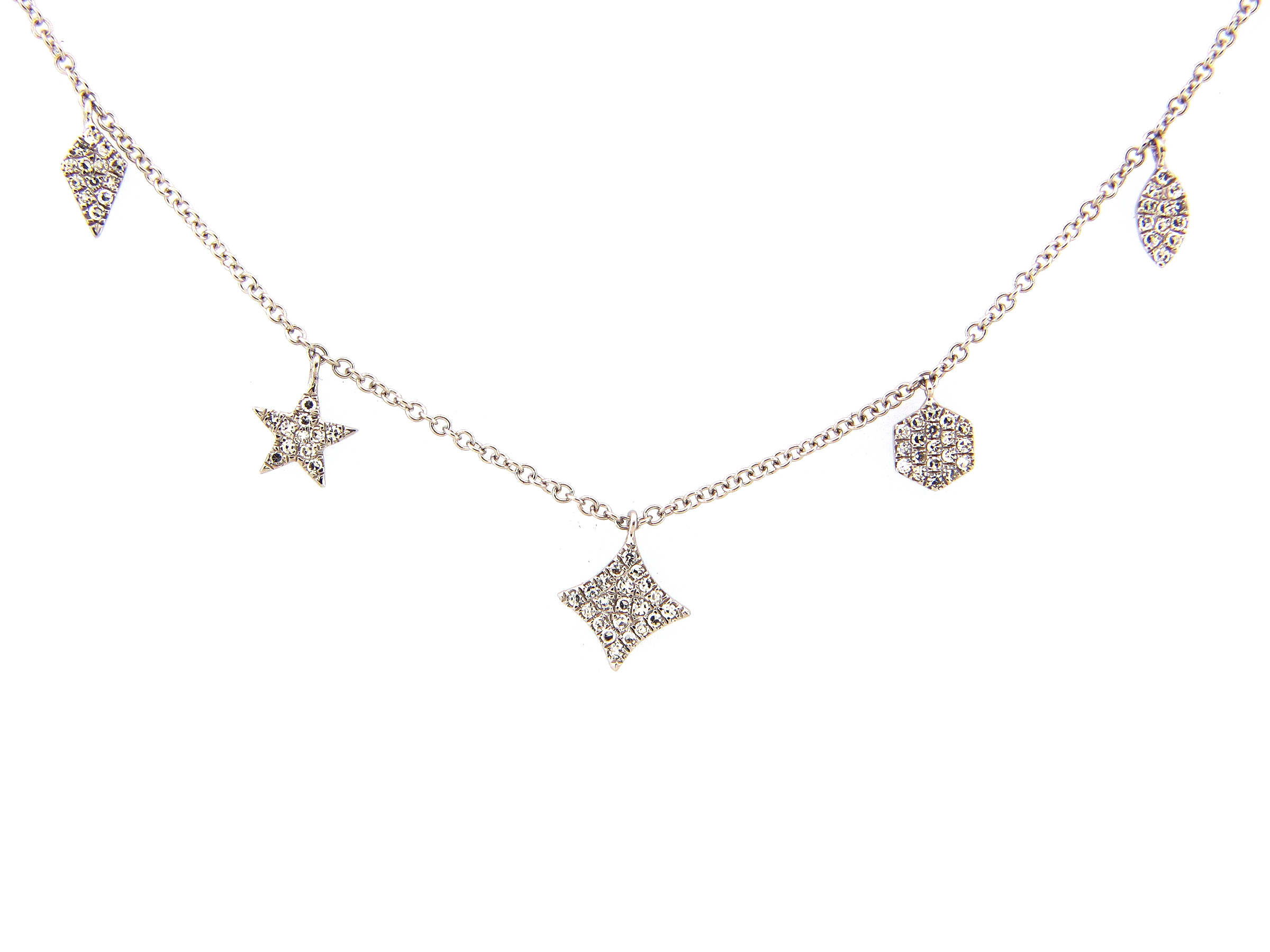 Diamond 5 Charm Necklace