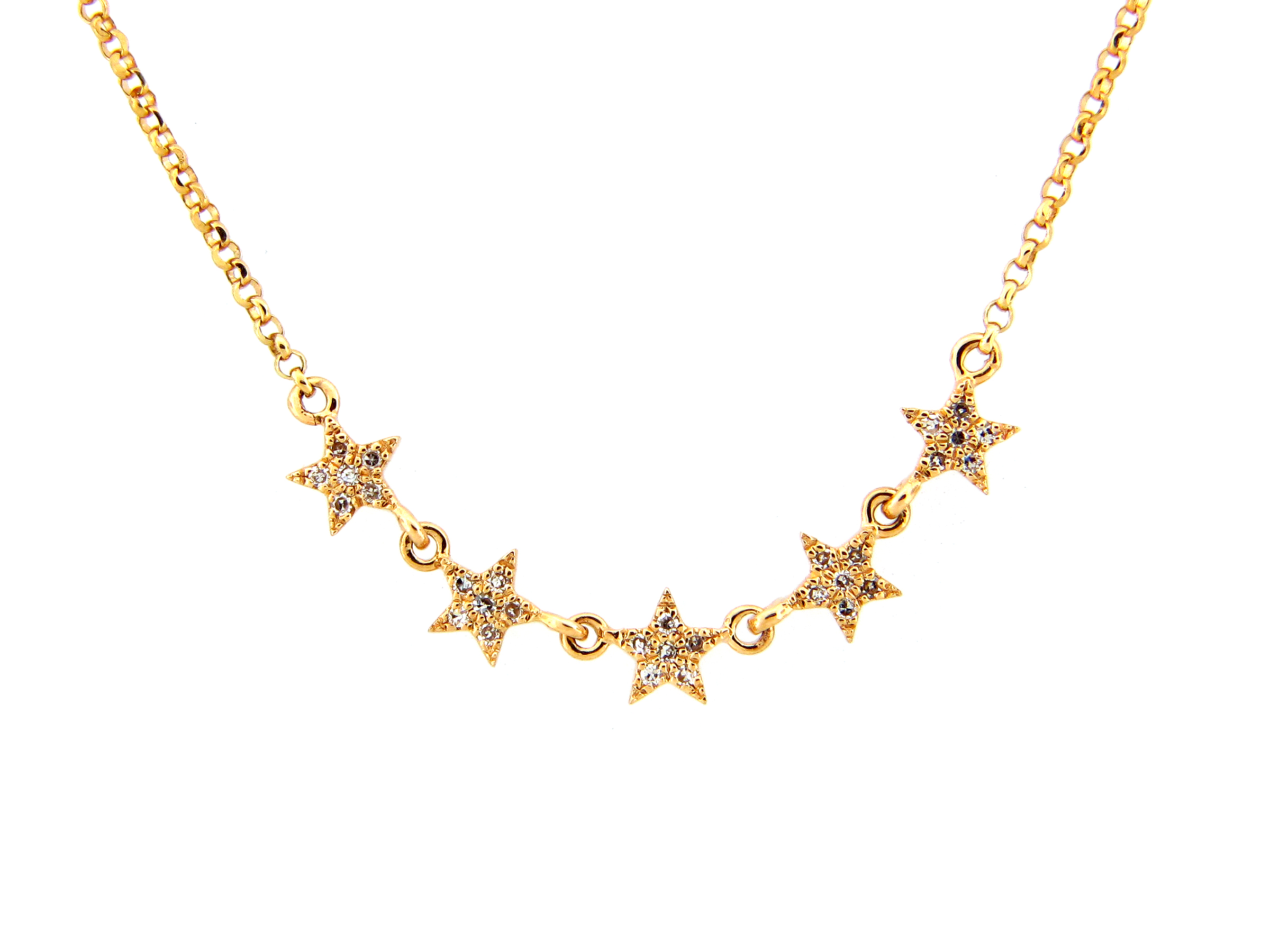 Diamond 5 Star Necklace