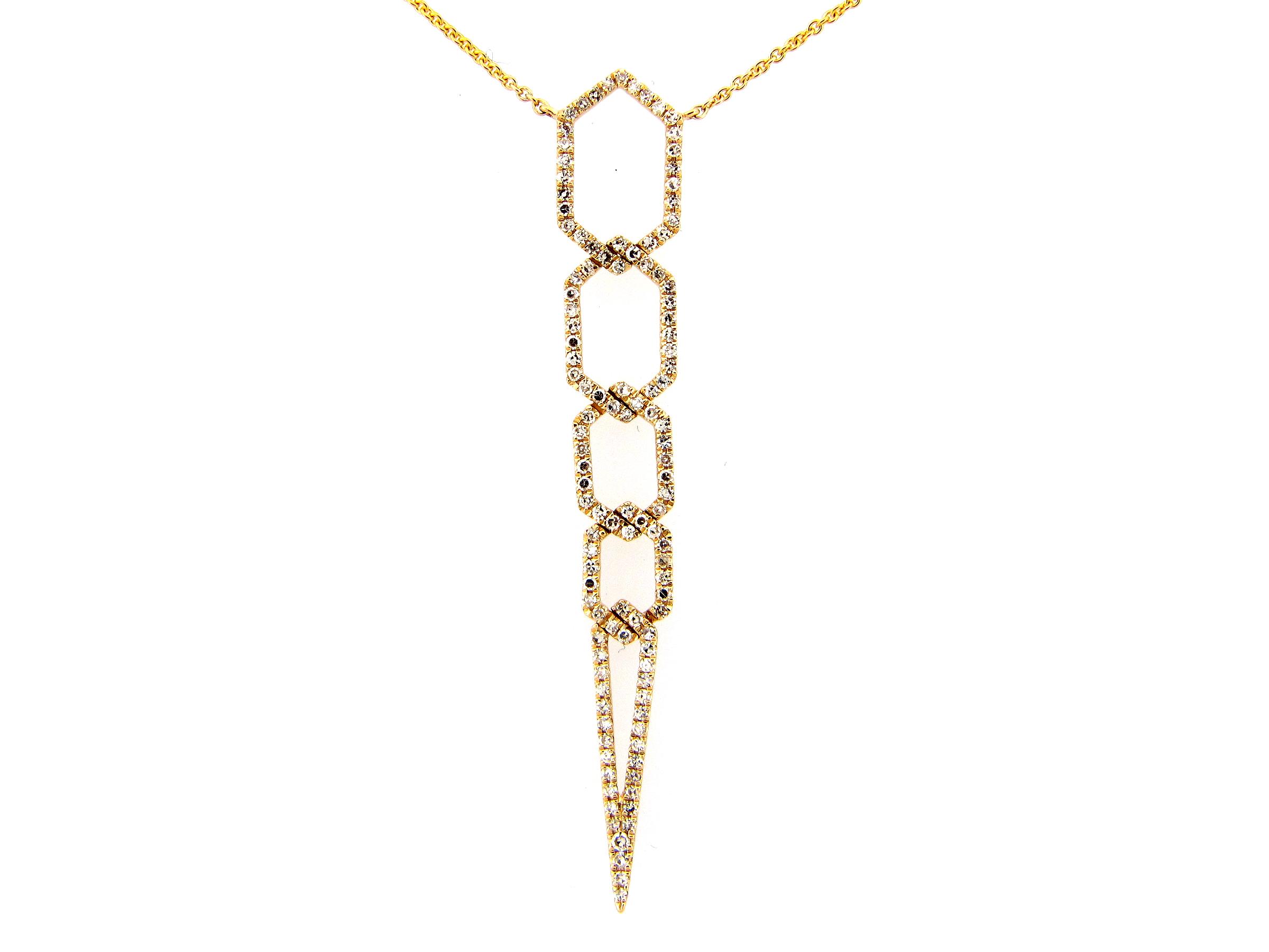 Link Drop Diamond Necklace