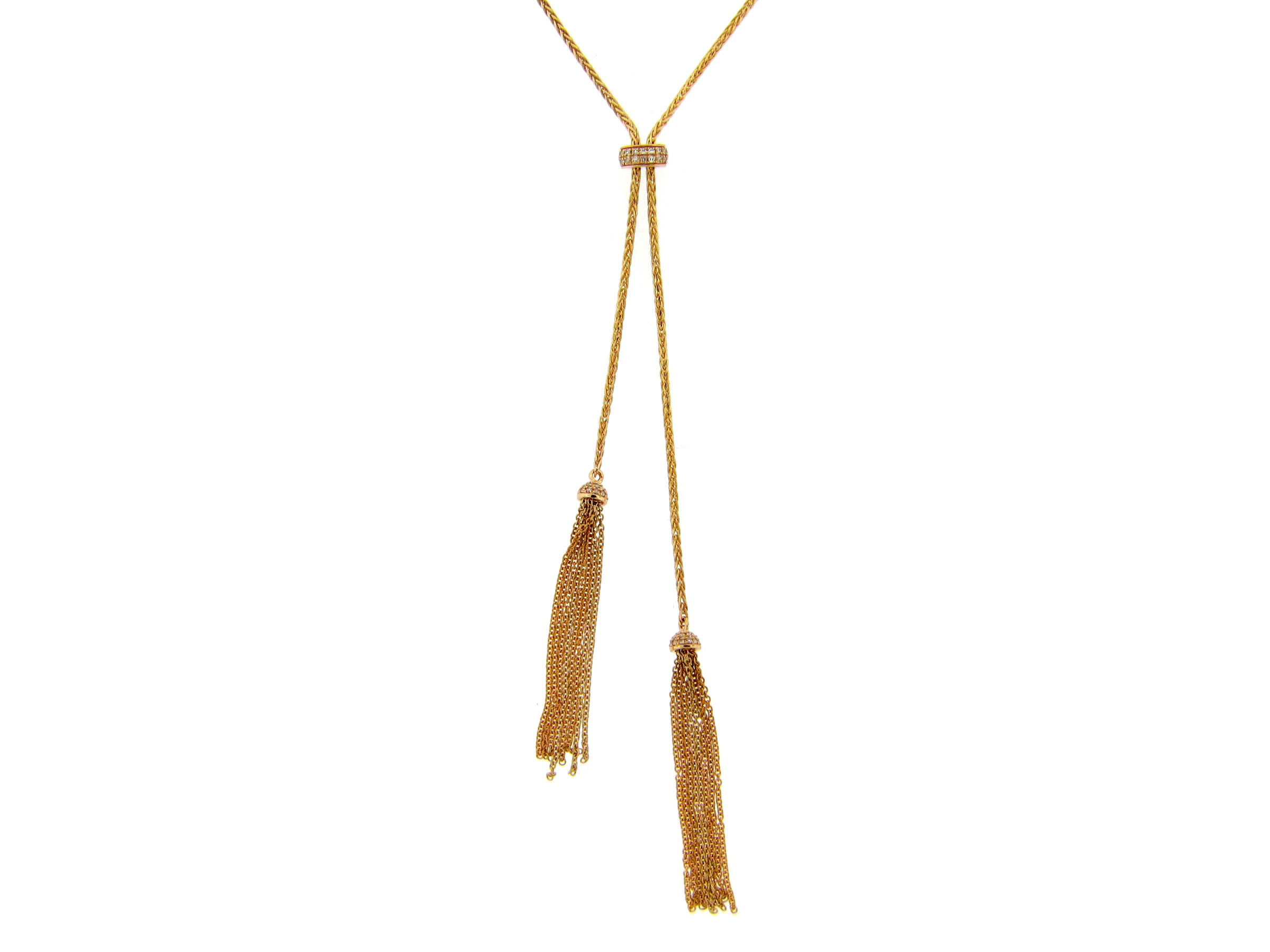 Bolo Diamond Necklace with Tassels