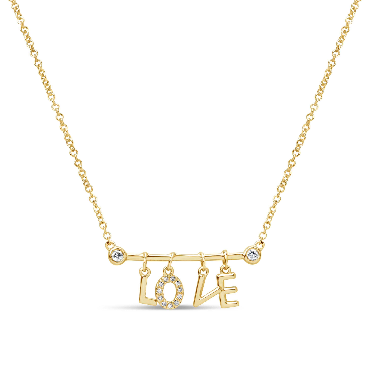 Diamond LOVE Pendant Necklace