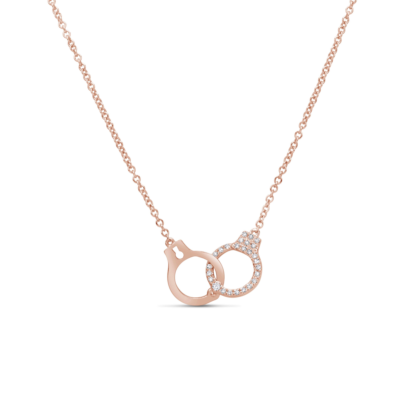 Diamond Handcuff Pendant Necklace