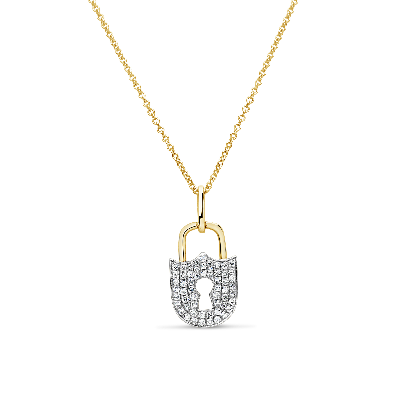 Diamond Padlock Pendant
