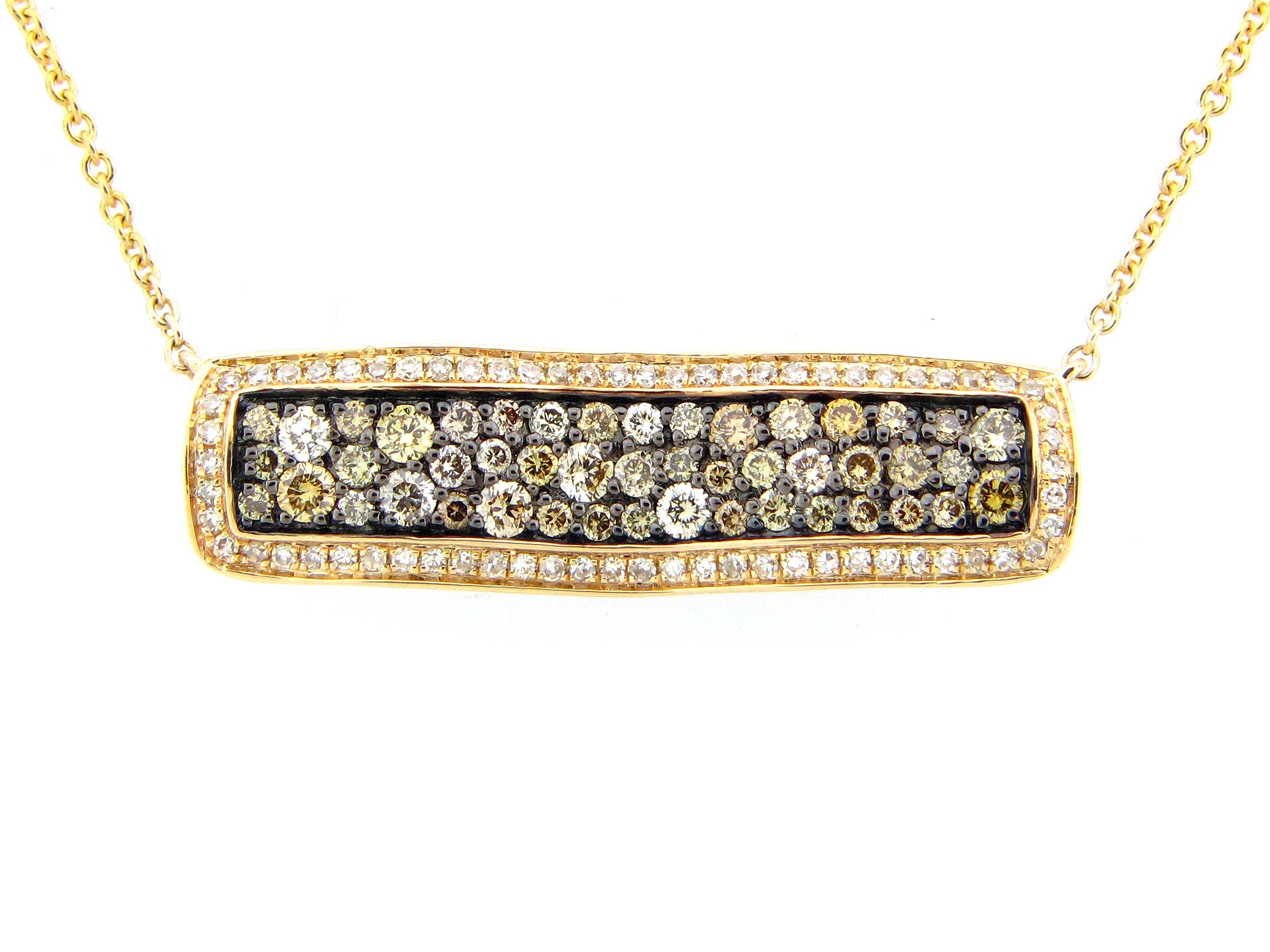 Fancy Color Diamond Pendant Necklace