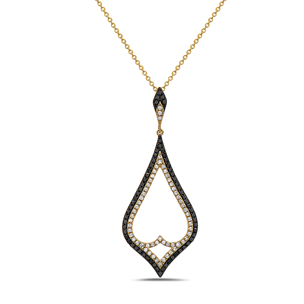 Black & White Diamond Large Pendant