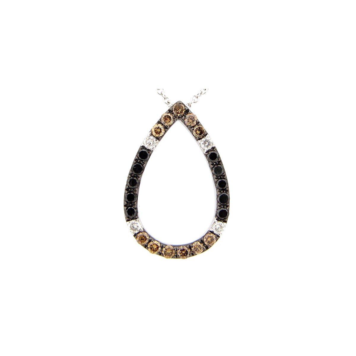 Black, Brown & White Diamond Pendant