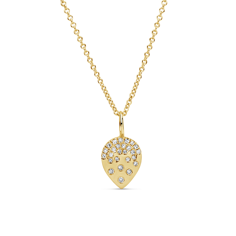 Diamond Pear Scatter Pendant