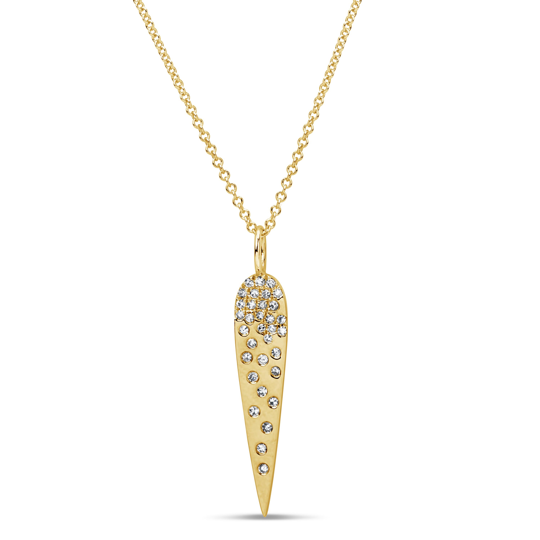 Diamond Long Pear Pendant
