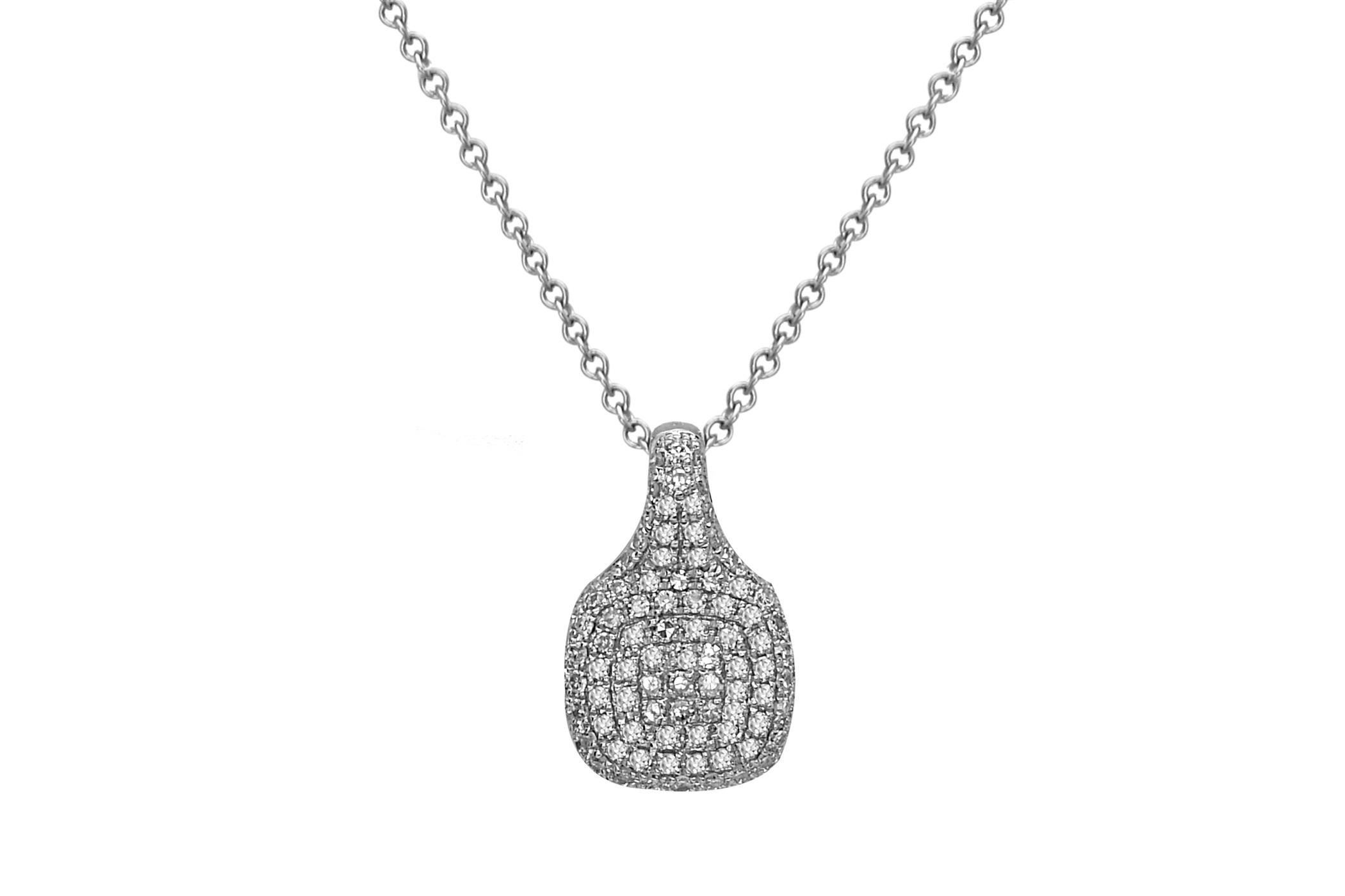 Diamond Cushion Pave Pendant