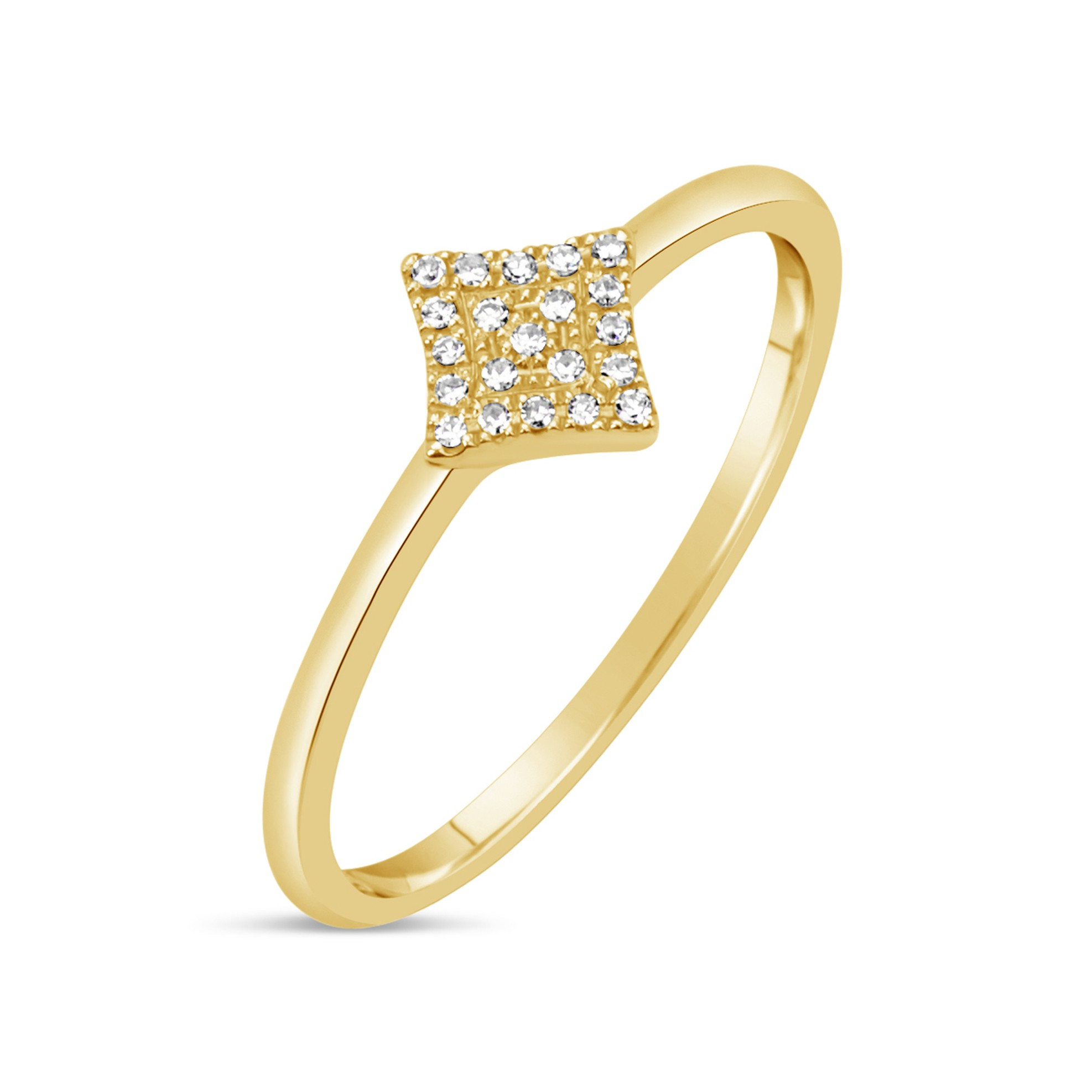 Diamond 4-Point Star Ring