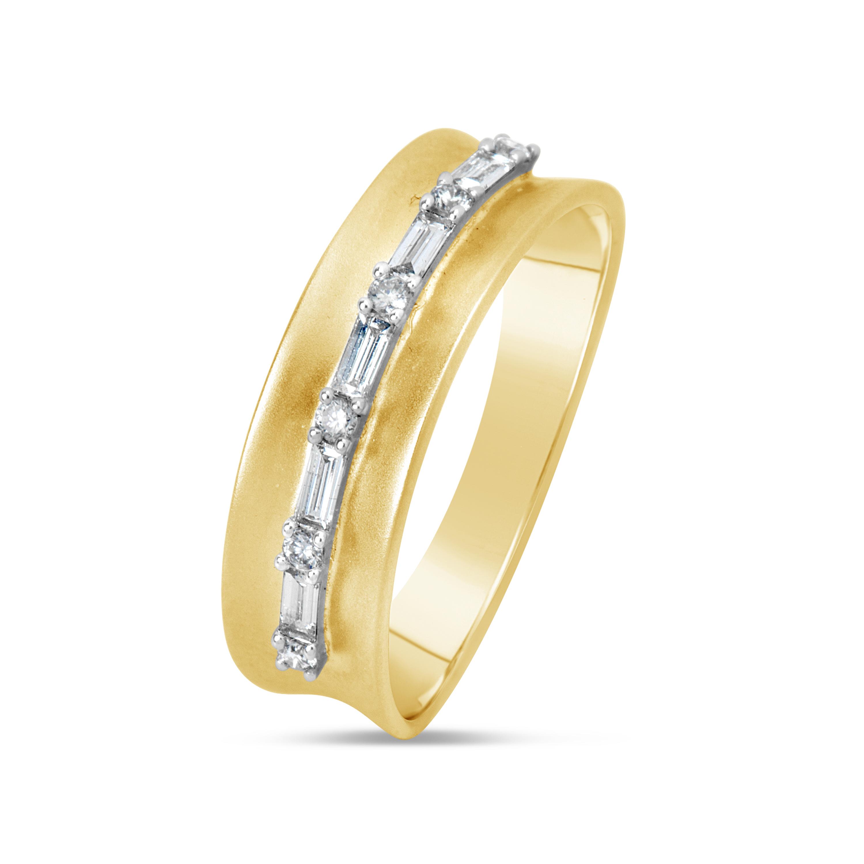 Diamond Saddle Line Ring