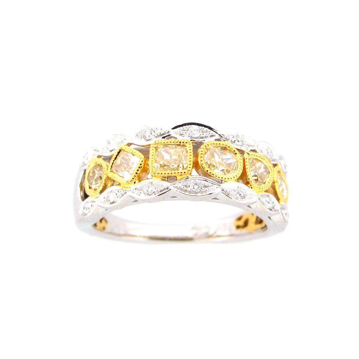 Yellow & White Diamond Ring