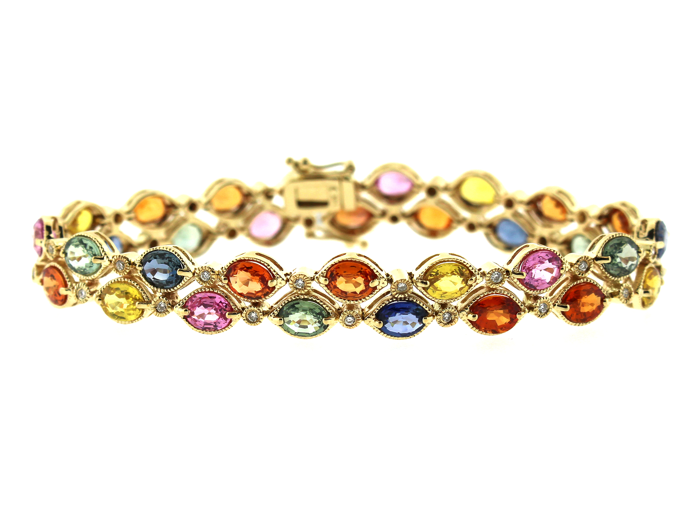 diamond by style white oval products bracelet blue sapphire vintage gold desires and