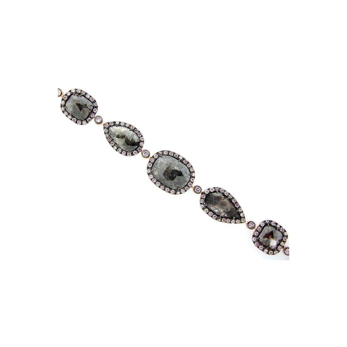 Rose Cut Slice Brown Diamond Bracelet