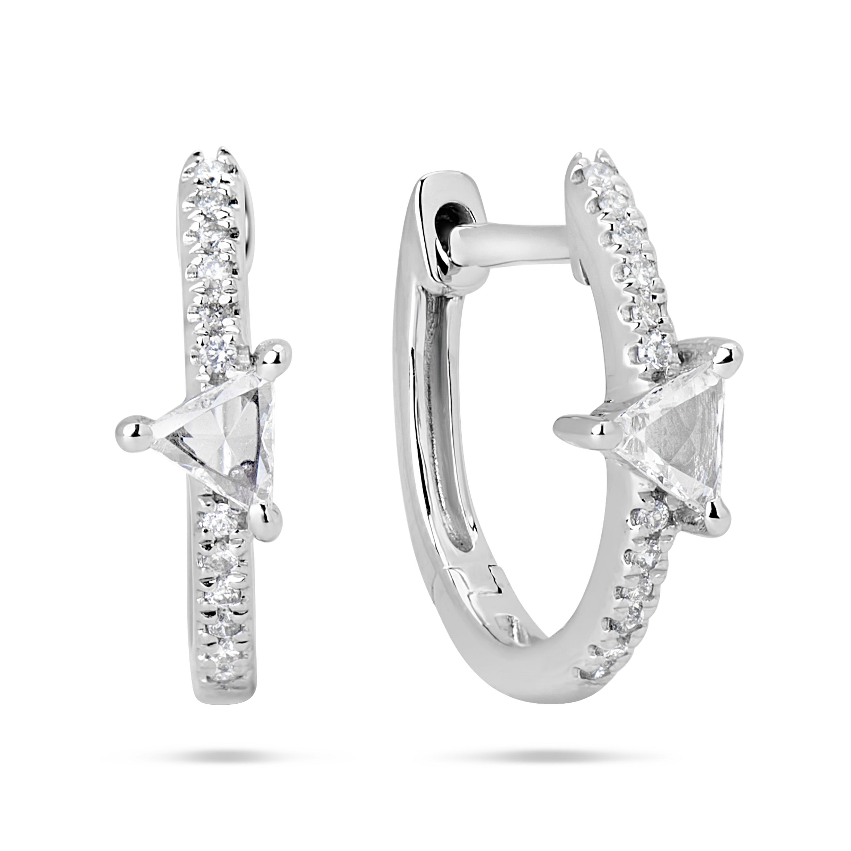 Rose Cut Diamond Earring