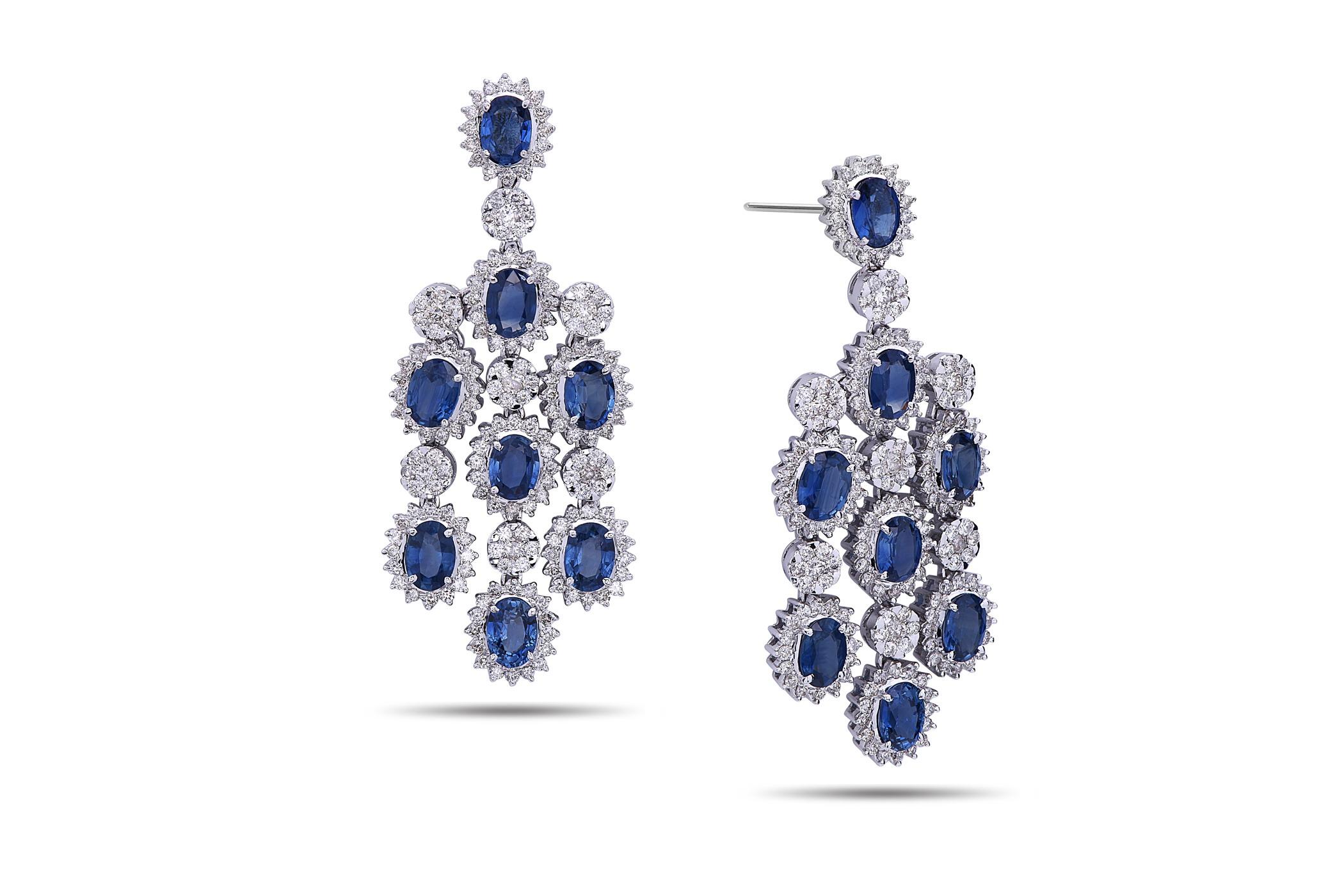 Dilamani jewelry sapphire diamond chandelier earring sapphire diamond chandelier earring arubaitofo Choice Image