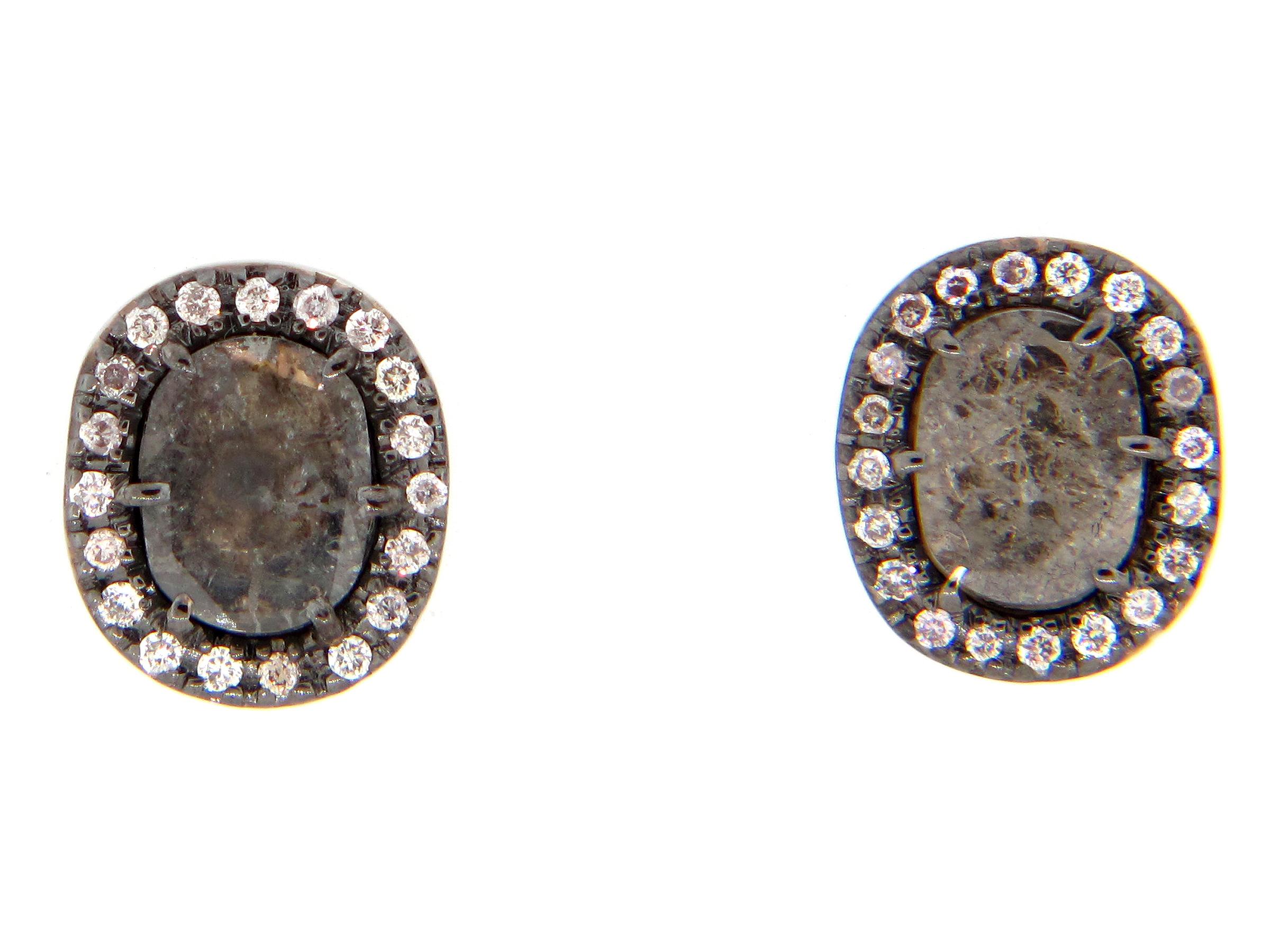 Diamond Slice Earring
