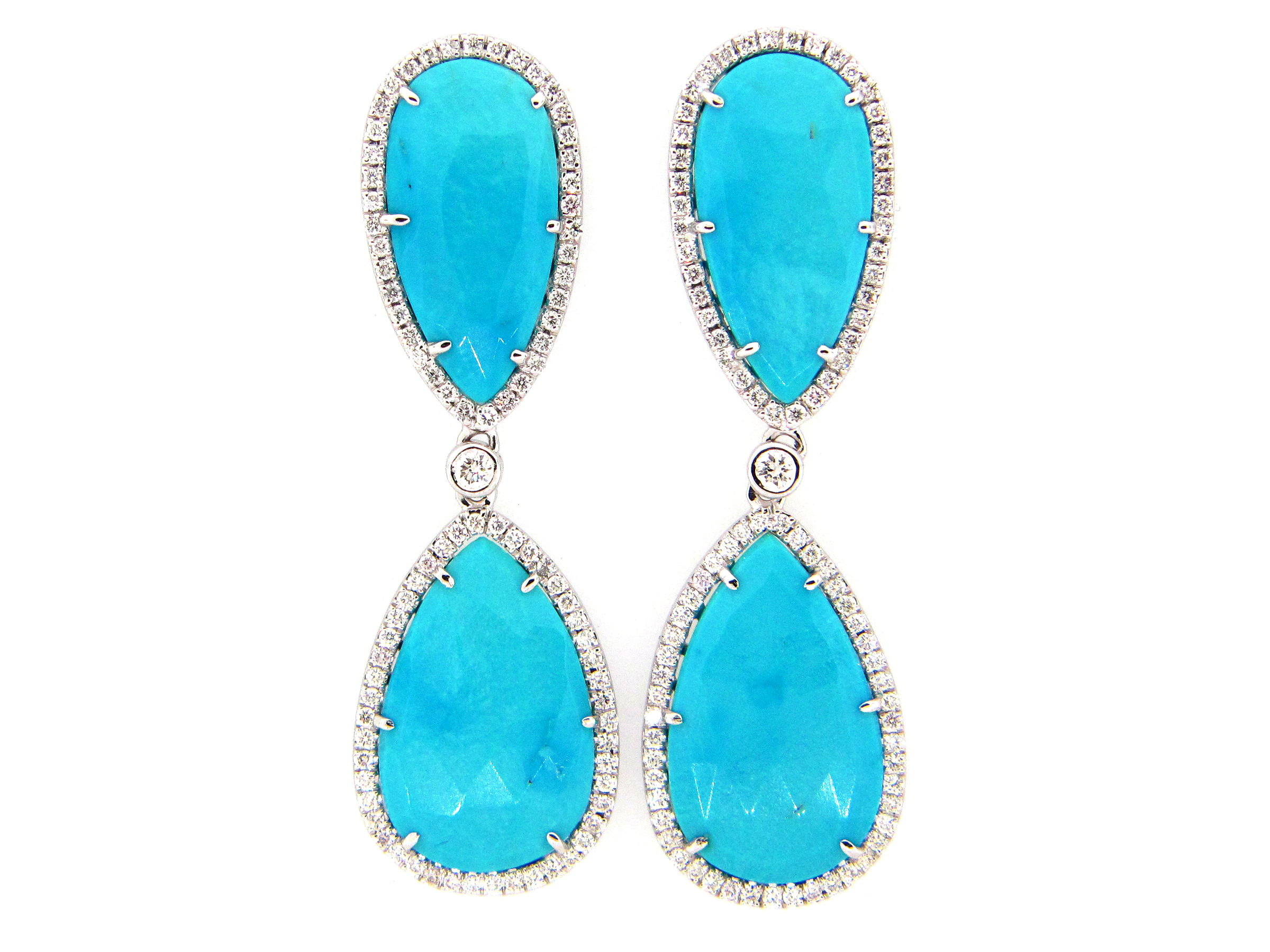 Turquoise & Diamond Earring