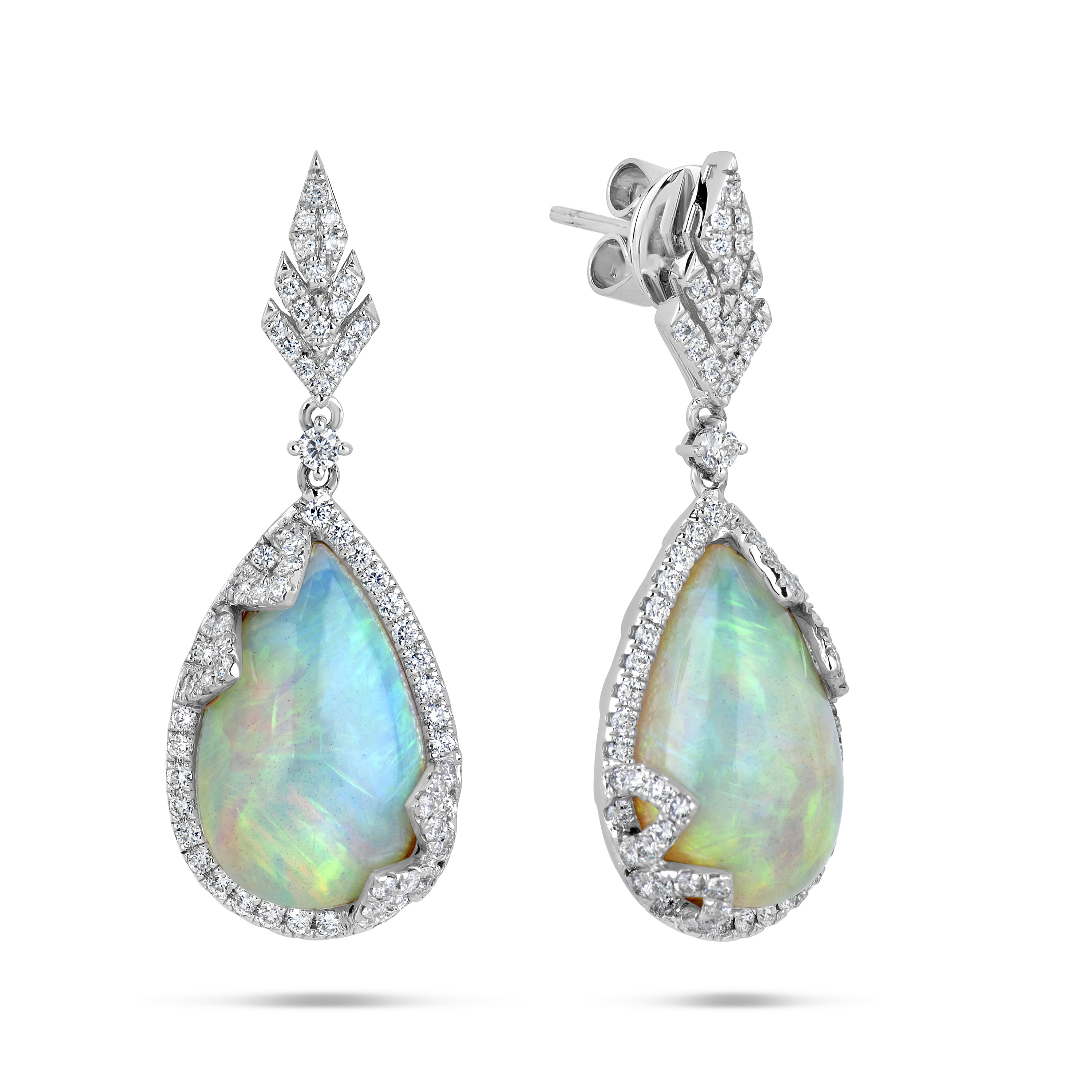 Opal & Diamond Earring