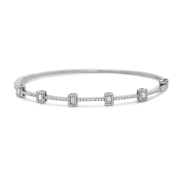 Diamond Baguette Bangle