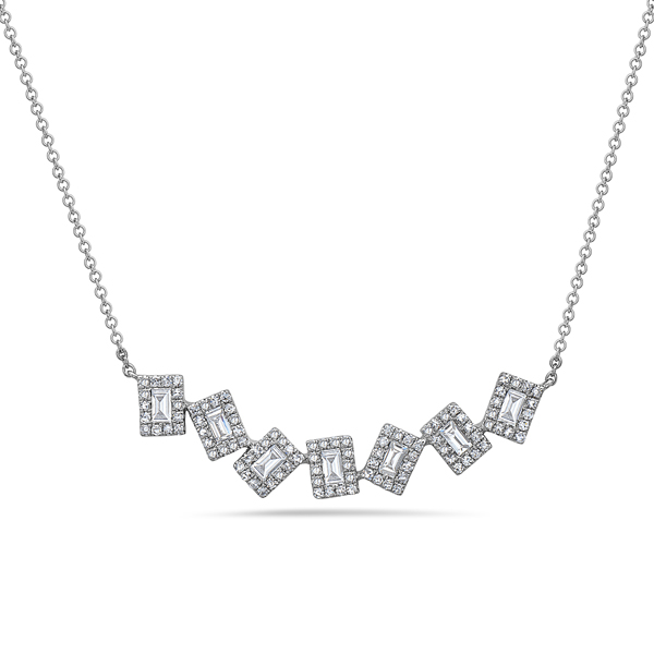 Diamond Pivoting Necklace