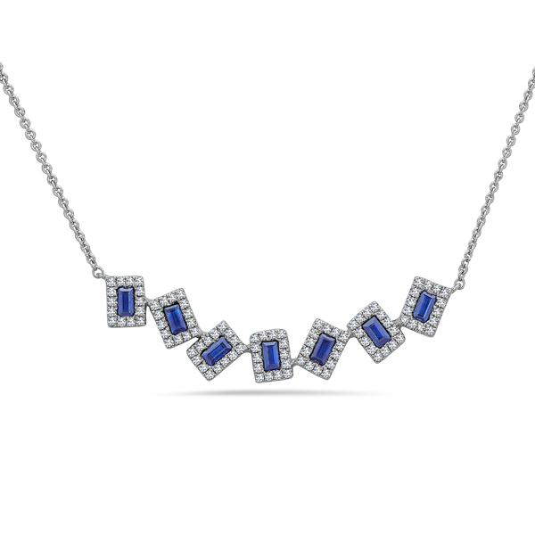 Sapphire & Diamond Pivoting Necklace