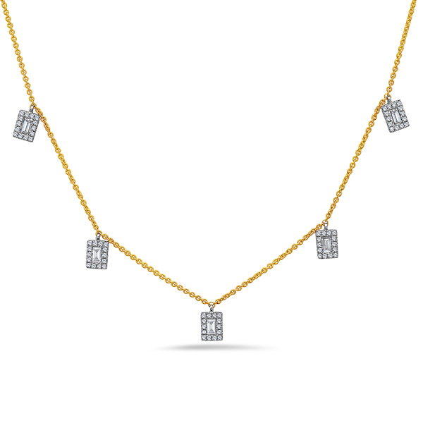 Diamond Baguette Pendant Necklace