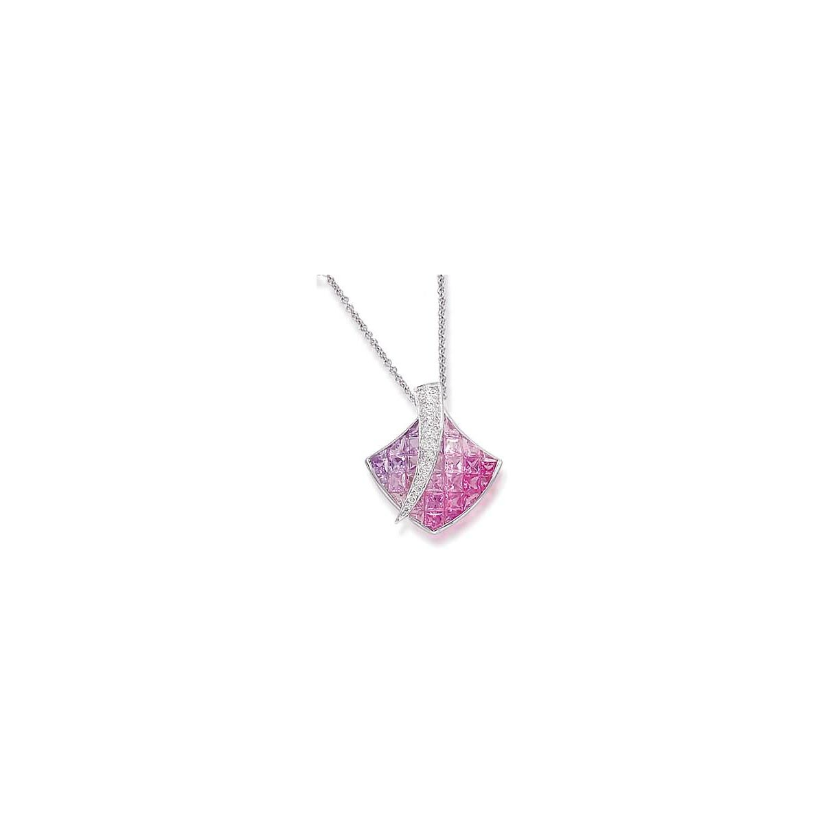 Desire - Shades of Pink & Purple Sapphire Pendant