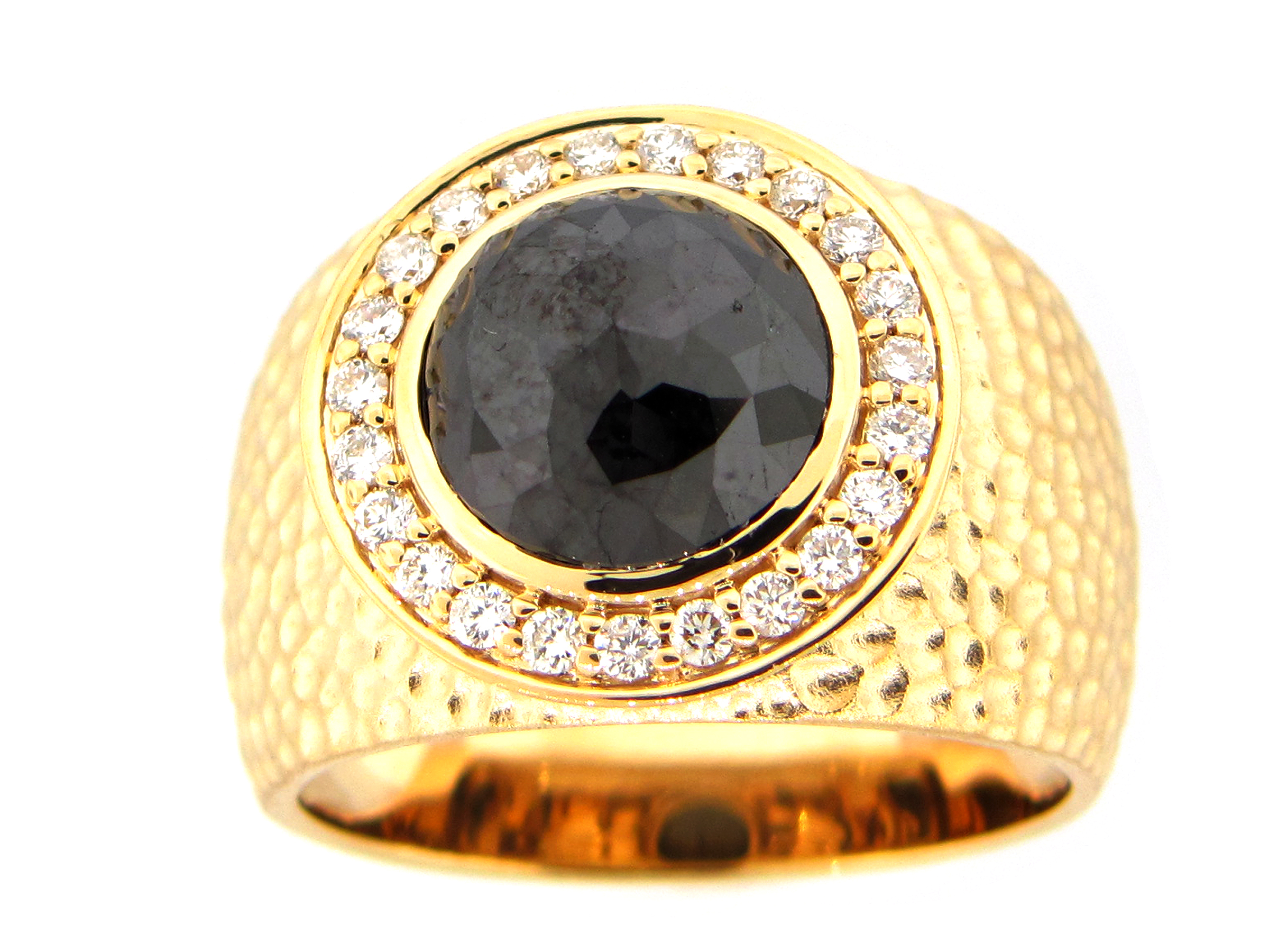 Black & White Diamond Wide Center Ring