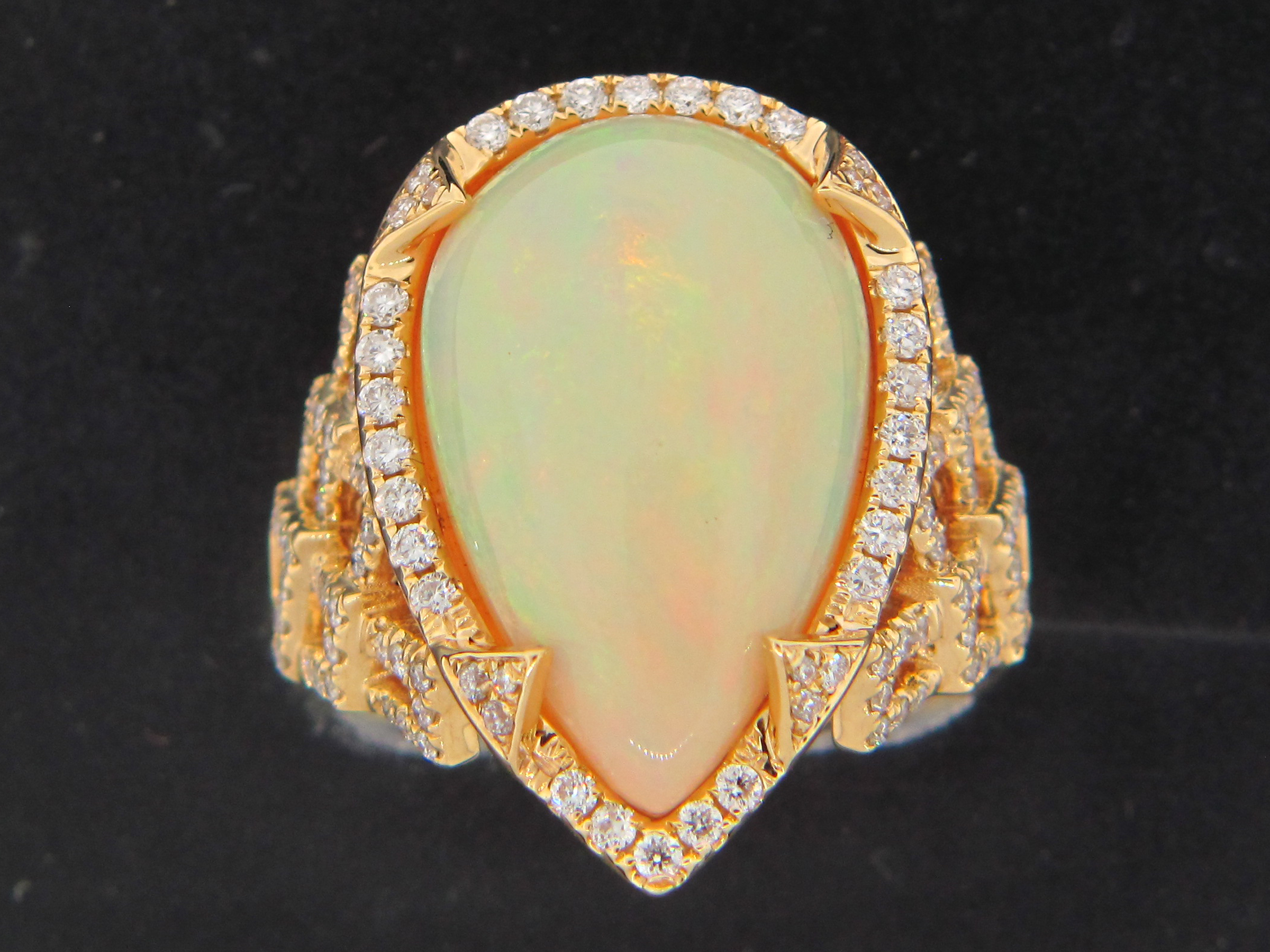 Opal & Diamond Ring